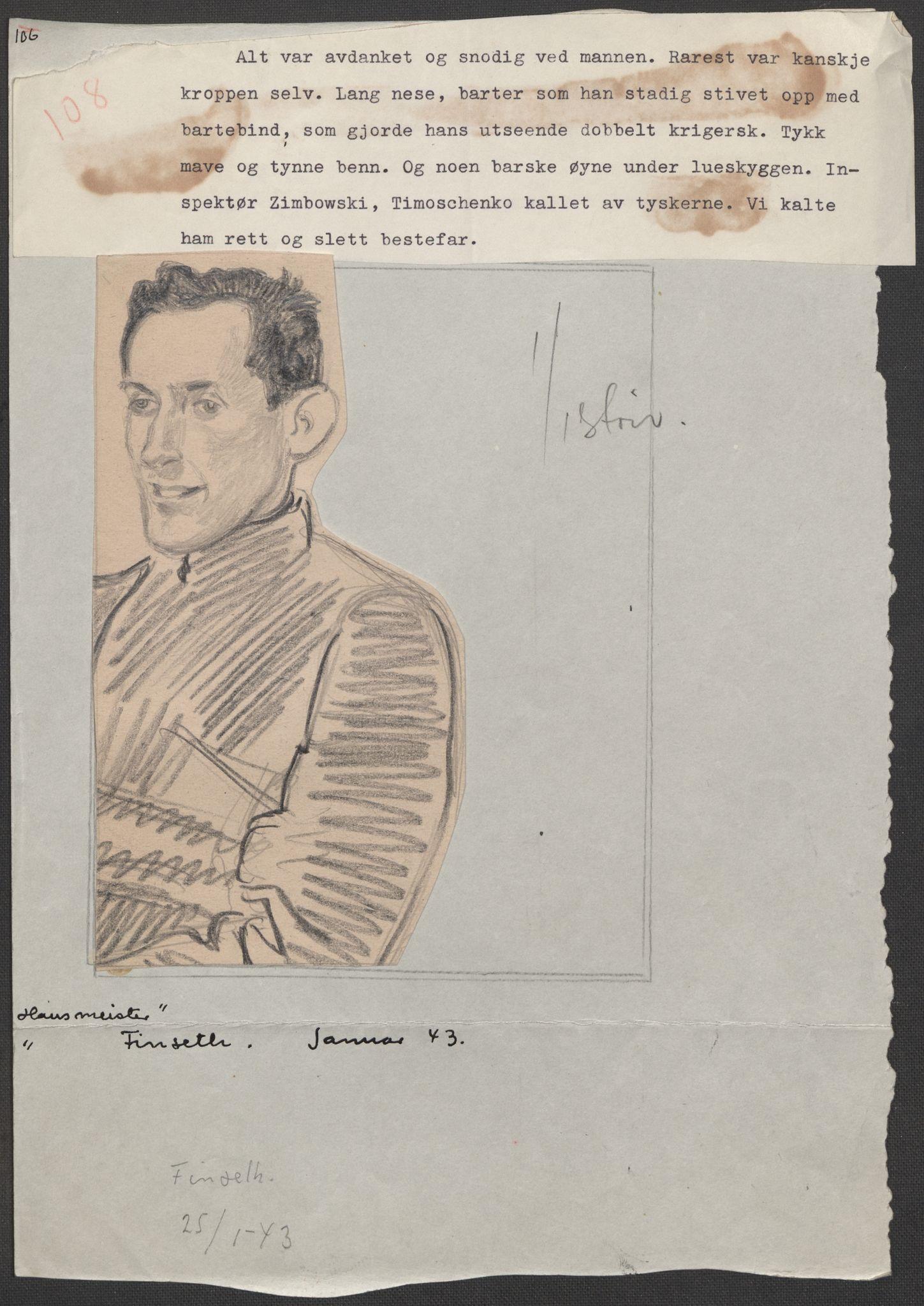 RA, Grøgaard, Joachim, F/L0002: Tegninger og tekster, 1942-1945, s. 84