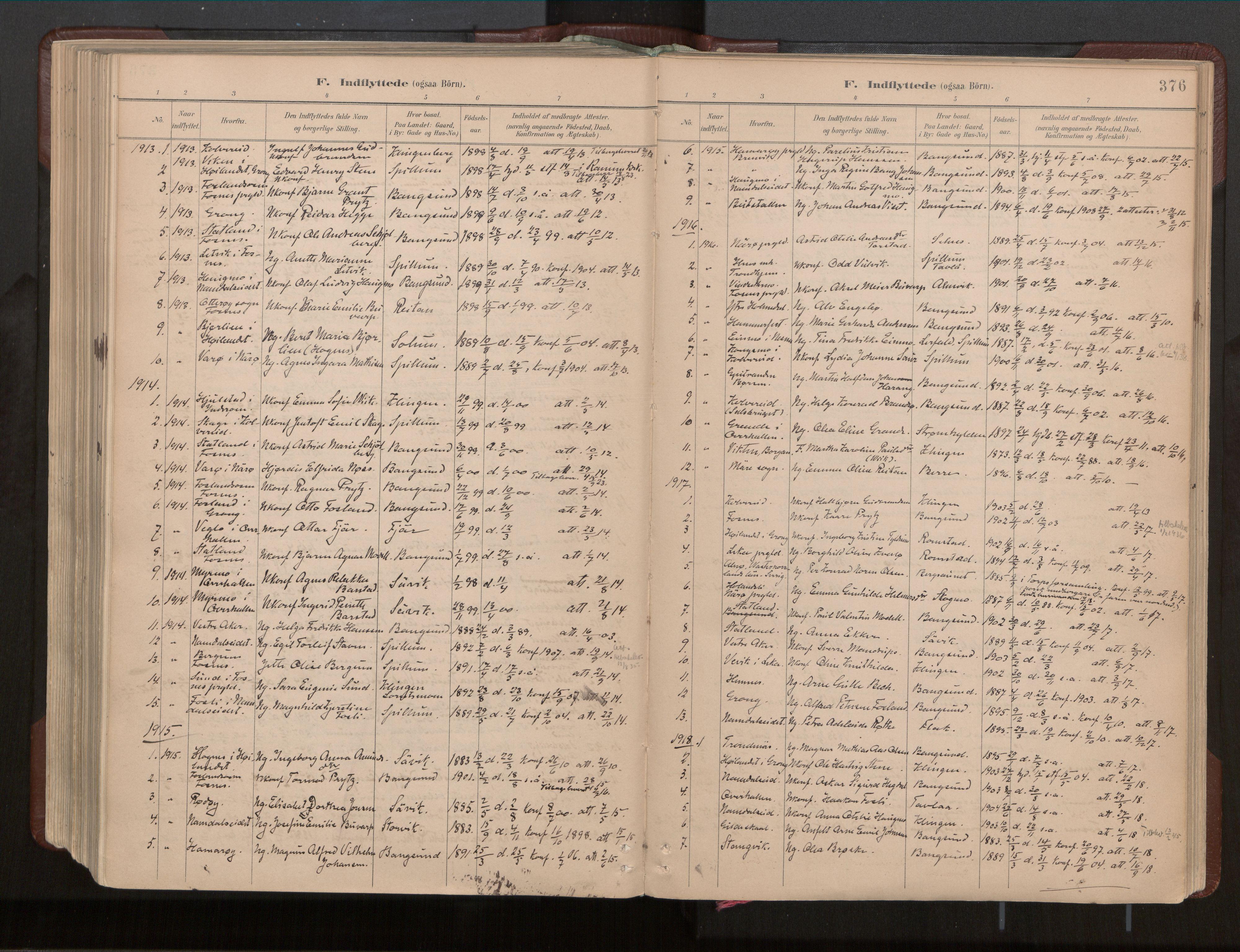 SAT, Ministerialprotokoller, klokkerbøker og fødselsregistre - Nord-Trøndelag, 770/L0589: Ministerialbok nr. 770A03, 1887-1929, s. 376