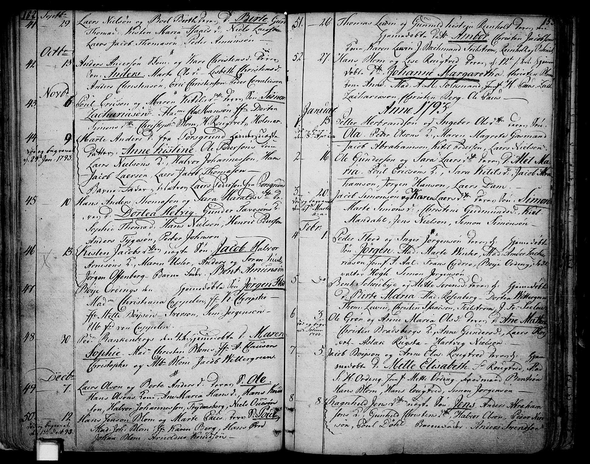 SAKO, Skien kirkebøker, F/Fa/L0004: Ministerialbok nr. 4, 1792-1814, s. 152-153