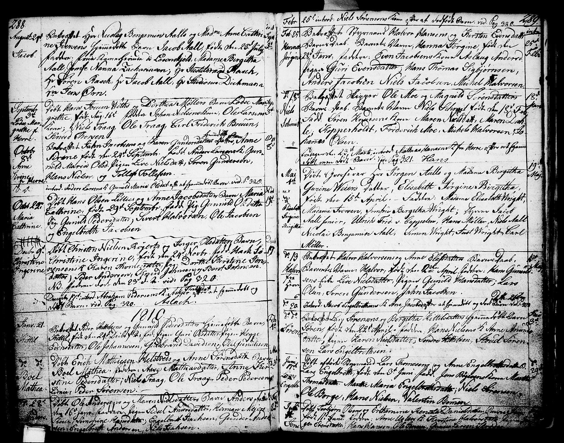SAKO, Porsgrunn kirkebøker , F/Fa/L0002: Ministerialbok nr. 2, 1764-1814, s. 288-289