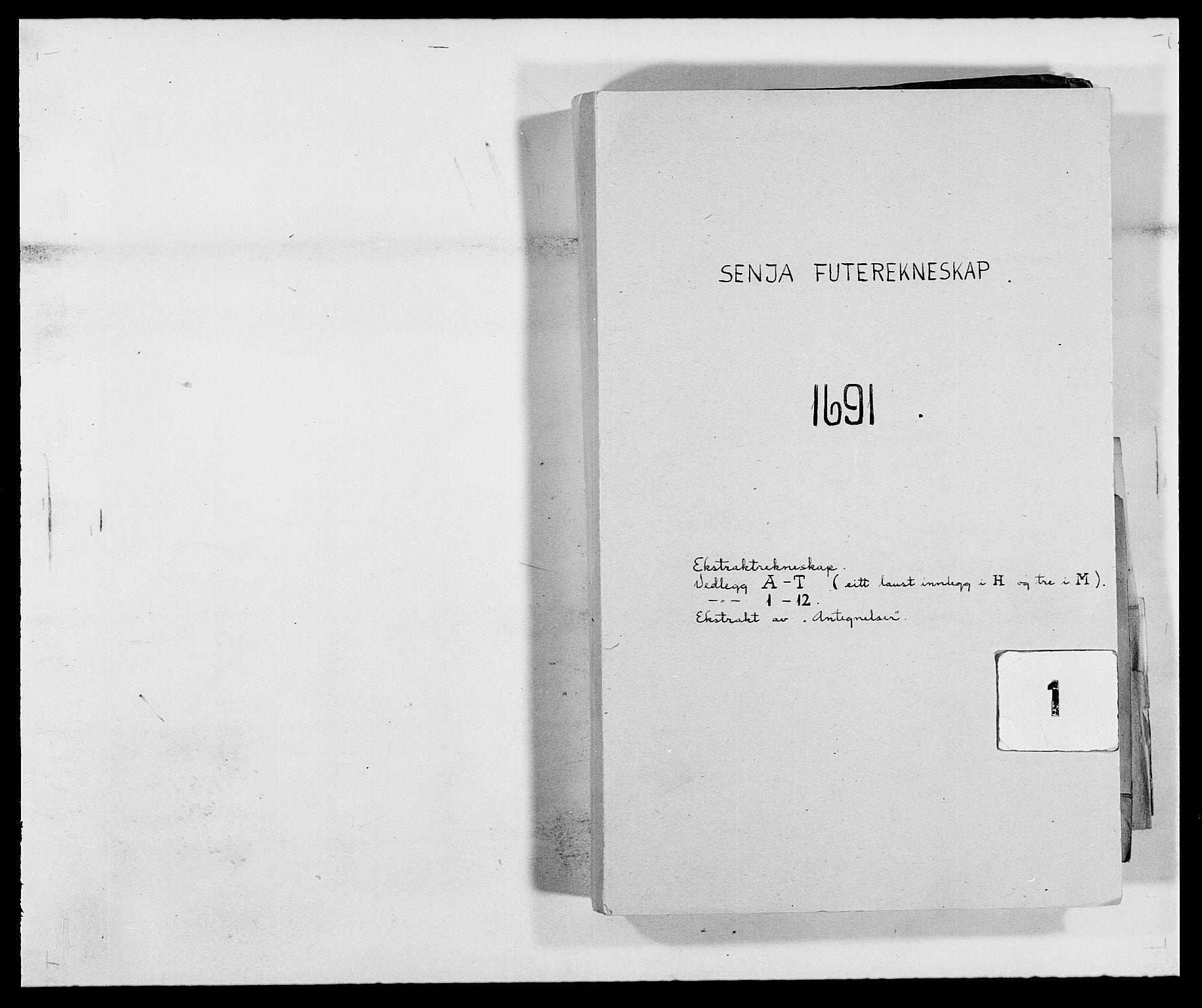 RA, Rentekammeret inntil 1814, Reviderte regnskaper, Fogderegnskap, R68/L4752: Fogderegnskap Senja og Troms, 1691-1693, s. 1