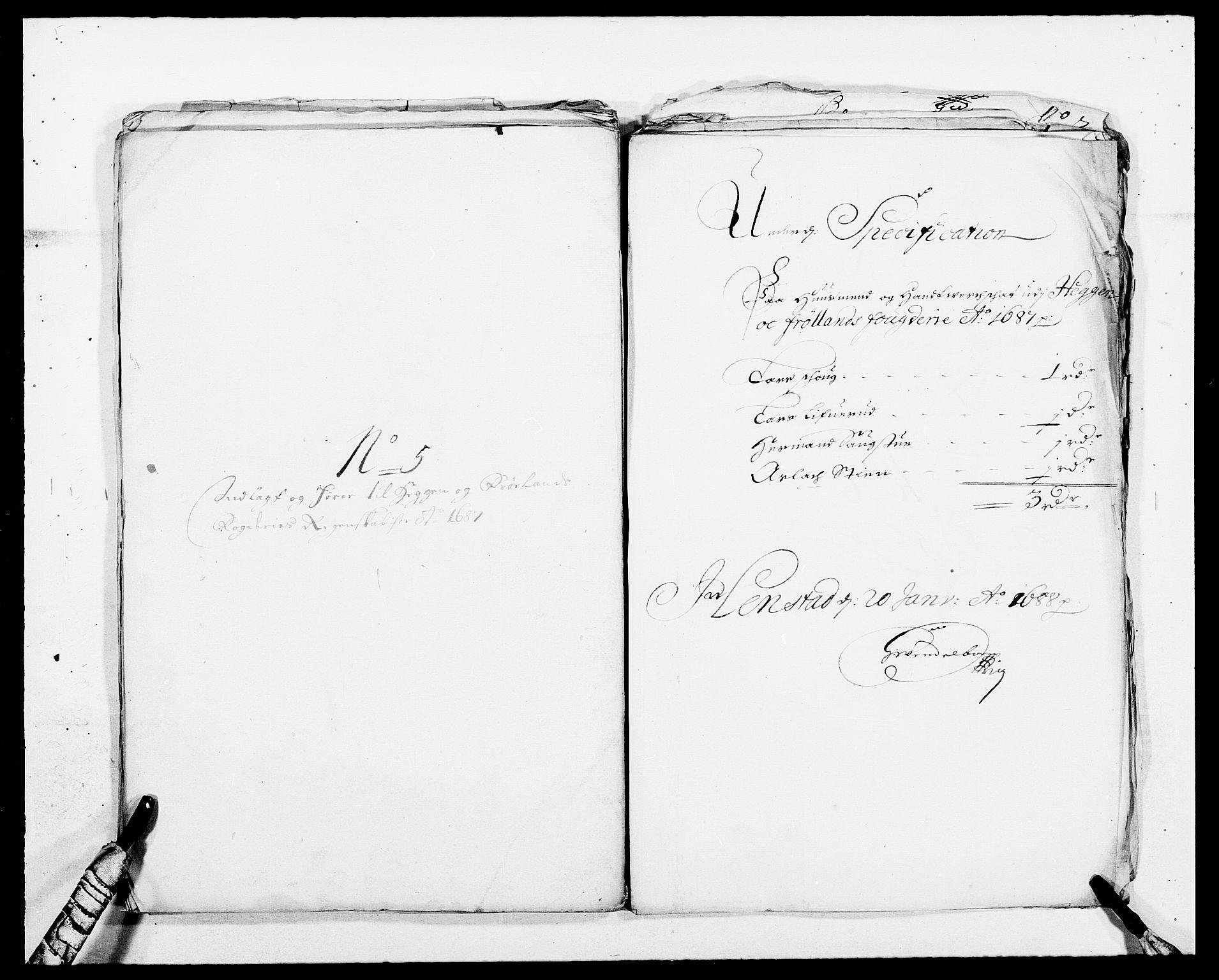 RA, Rentekammeret inntil 1814, Reviderte regnskaper, Fogderegnskap, R06/L0282: Fogderegnskap Heggen og Frøland, 1687-1690, s. 46