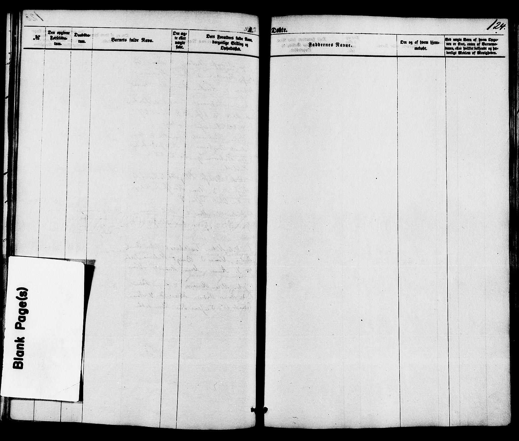 SAKO, Holla kirkebøker, F/Fa/L0007: Ministerialbok nr. 7, 1869-1881, s. 124