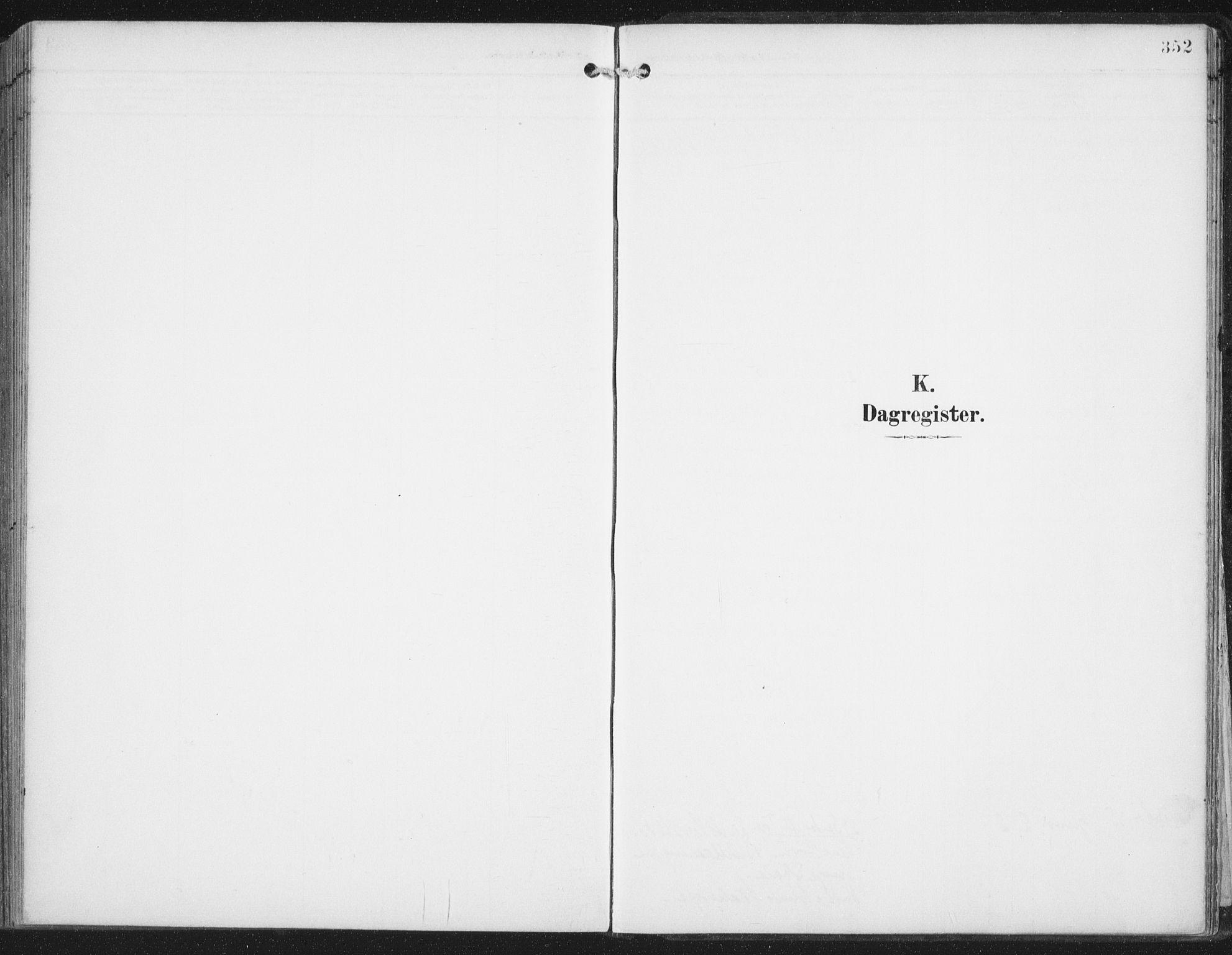 SAT, Ministerialprotokoller, klokkerbøker og fødselsregistre - Nordland, 876/L1098: Ministerialbok nr. 876A04, 1896-1915, s. 352