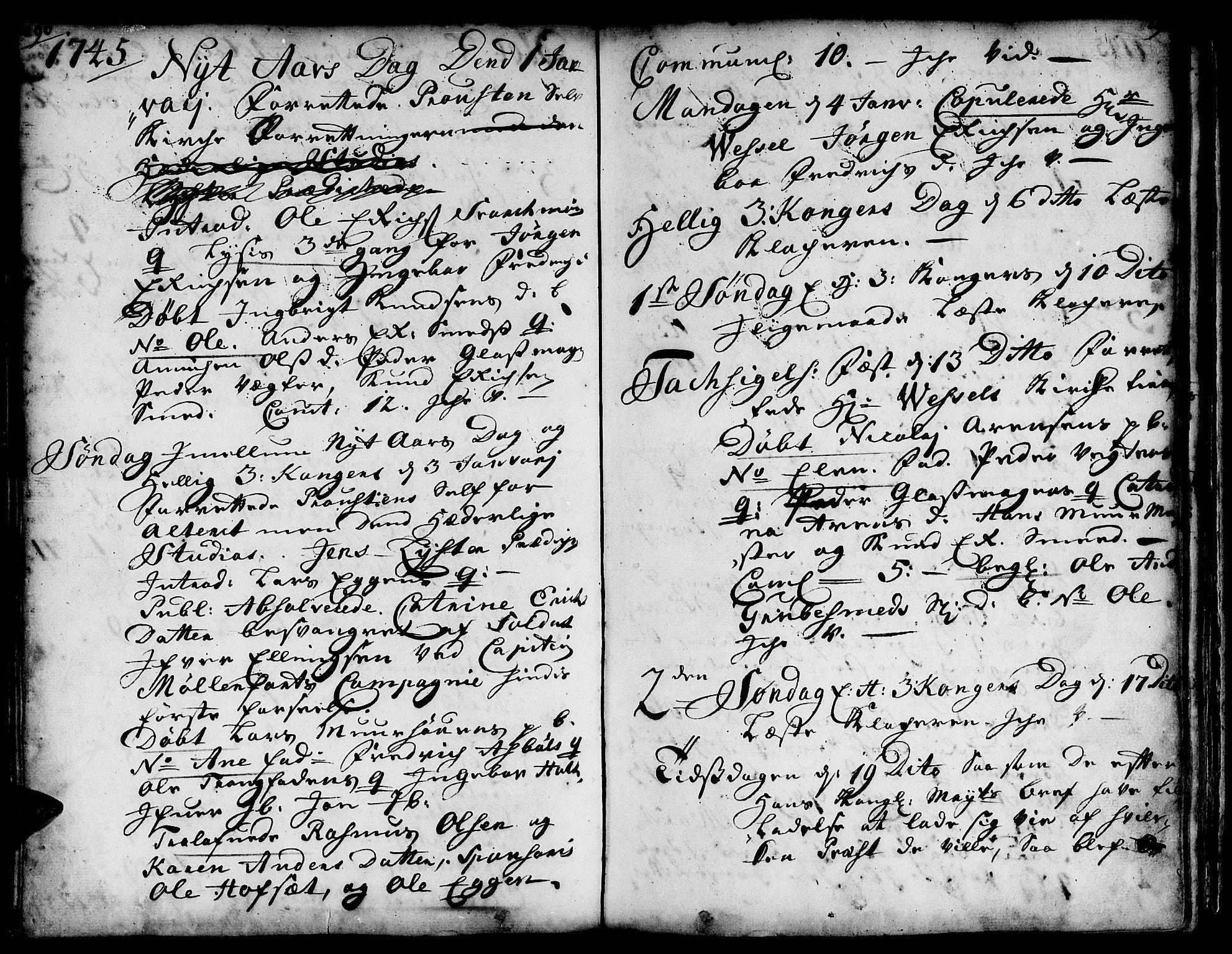 SAT, Ministerialprotokoller, klokkerbøker og fødselsregistre - Sør-Trøndelag, 671/L0839: Ministerialbok nr. 671A01, 1730-1755, s. 290-291