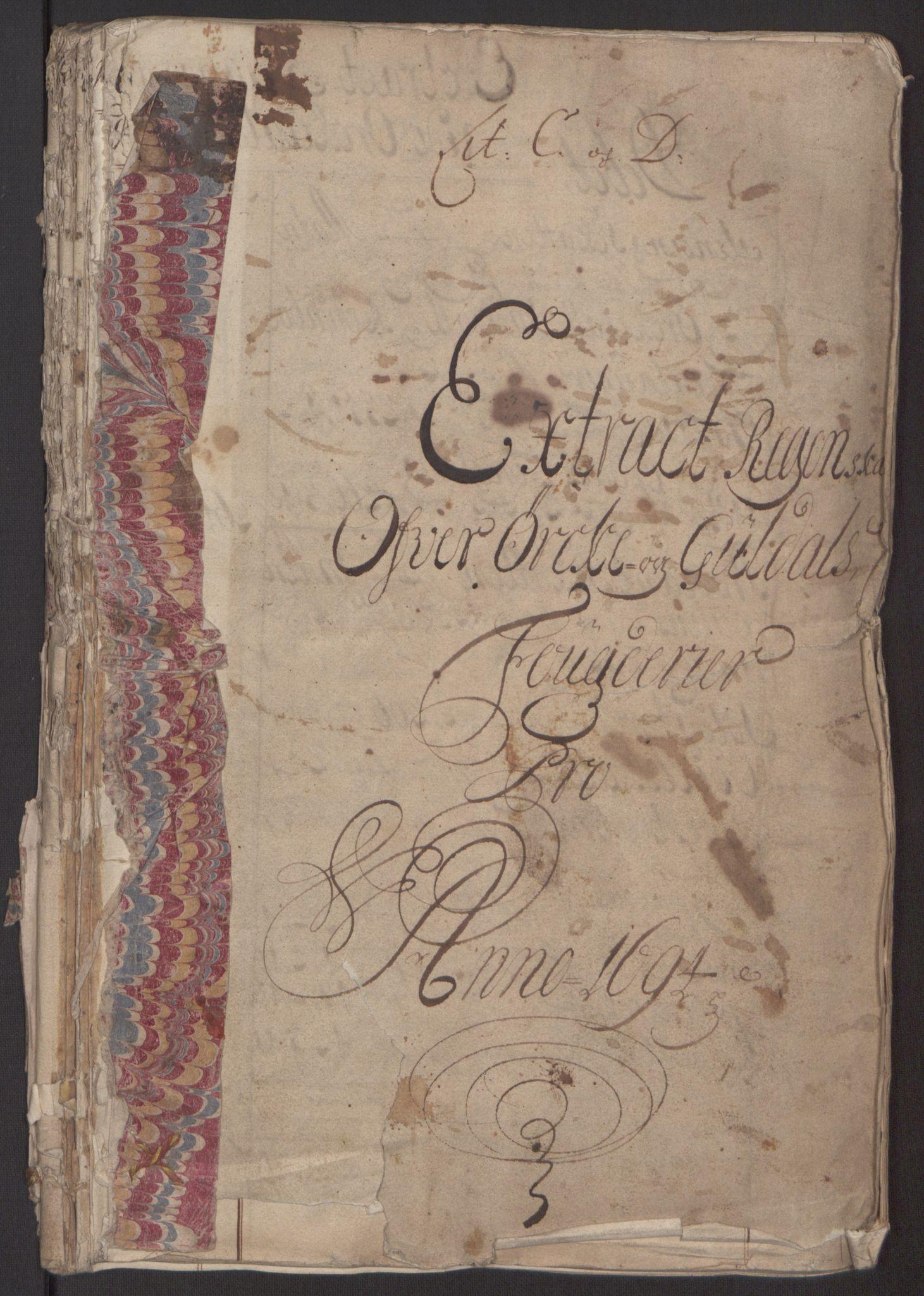 RA, Rentekammeret inntil 1814, Reviderte regnskaper, Fogderegnskap, R60/L3944: Fogderegnskap Orkdal og Gauldal, 1694, s. 208