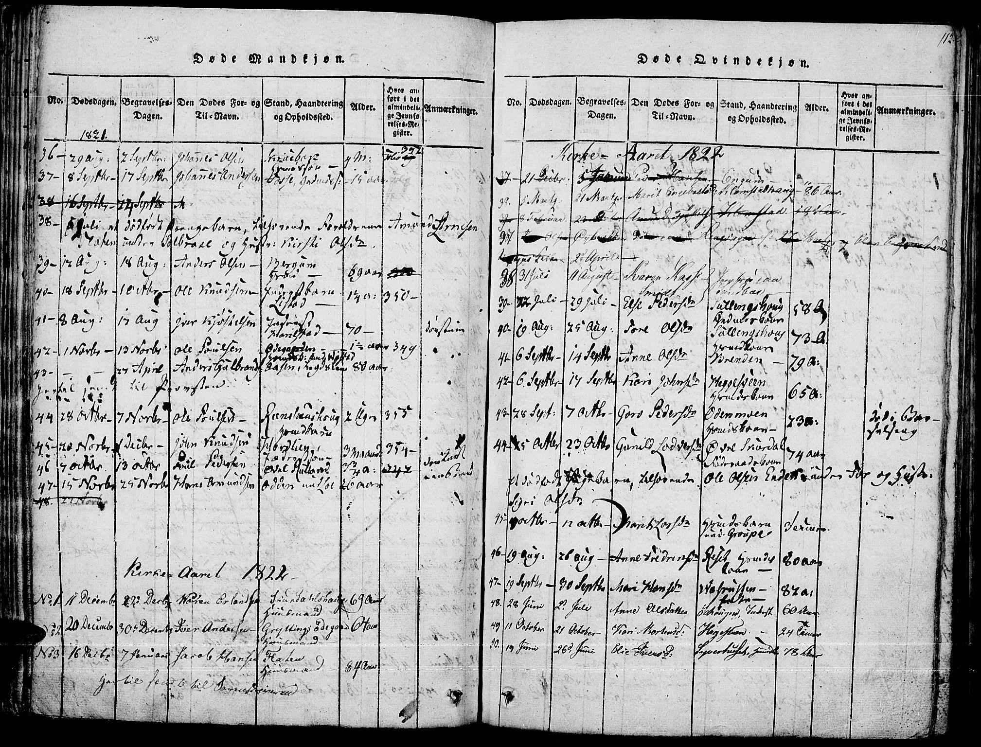 SAH, Fron prestekontor, H/Ha/Haa/L0002: Ministerialbok nr. 2, 1816-1827, s. 112