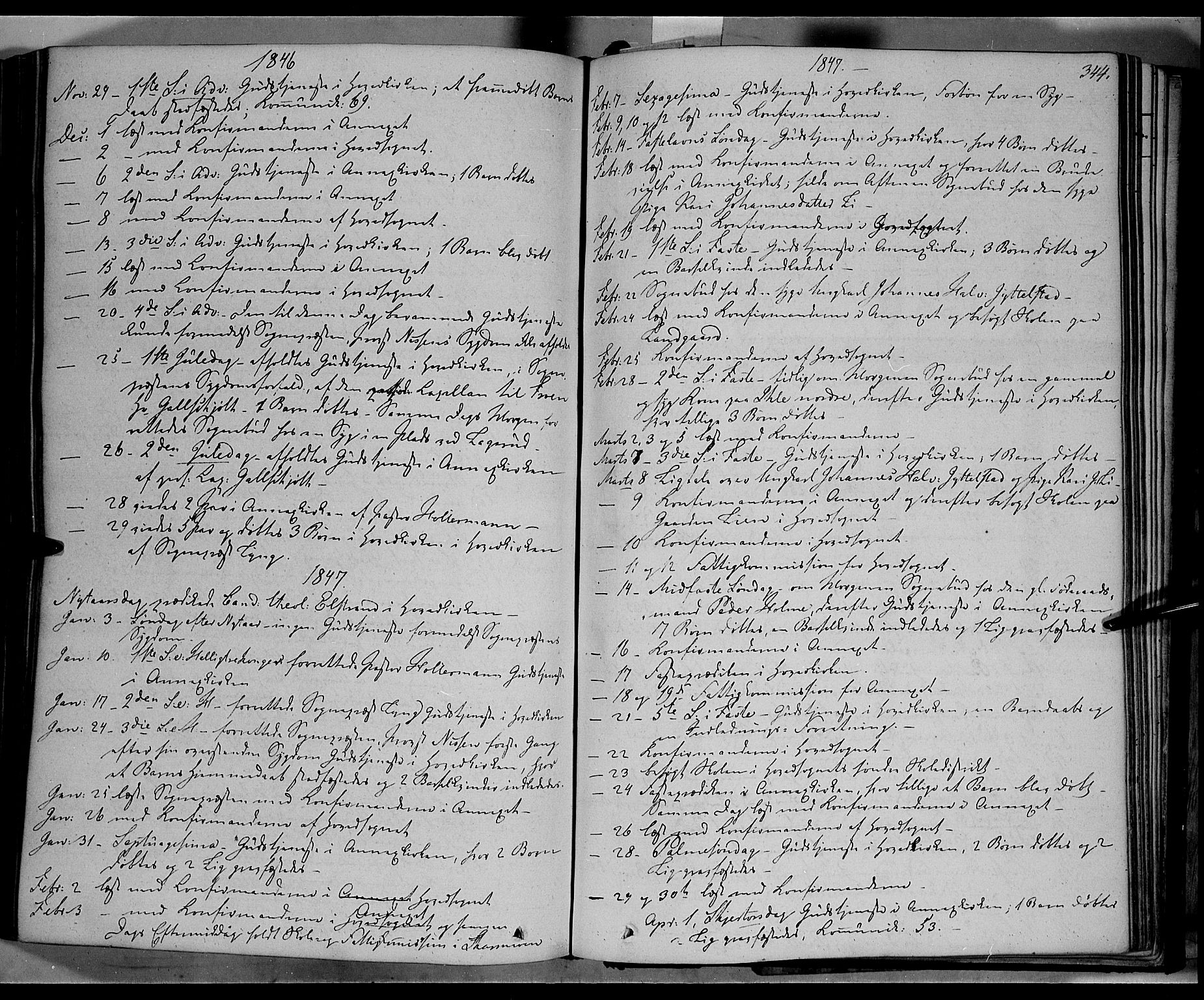 SAH, Øyer prestekontor, Ministerialbok nr. 5, 1842-1857, s. 344
