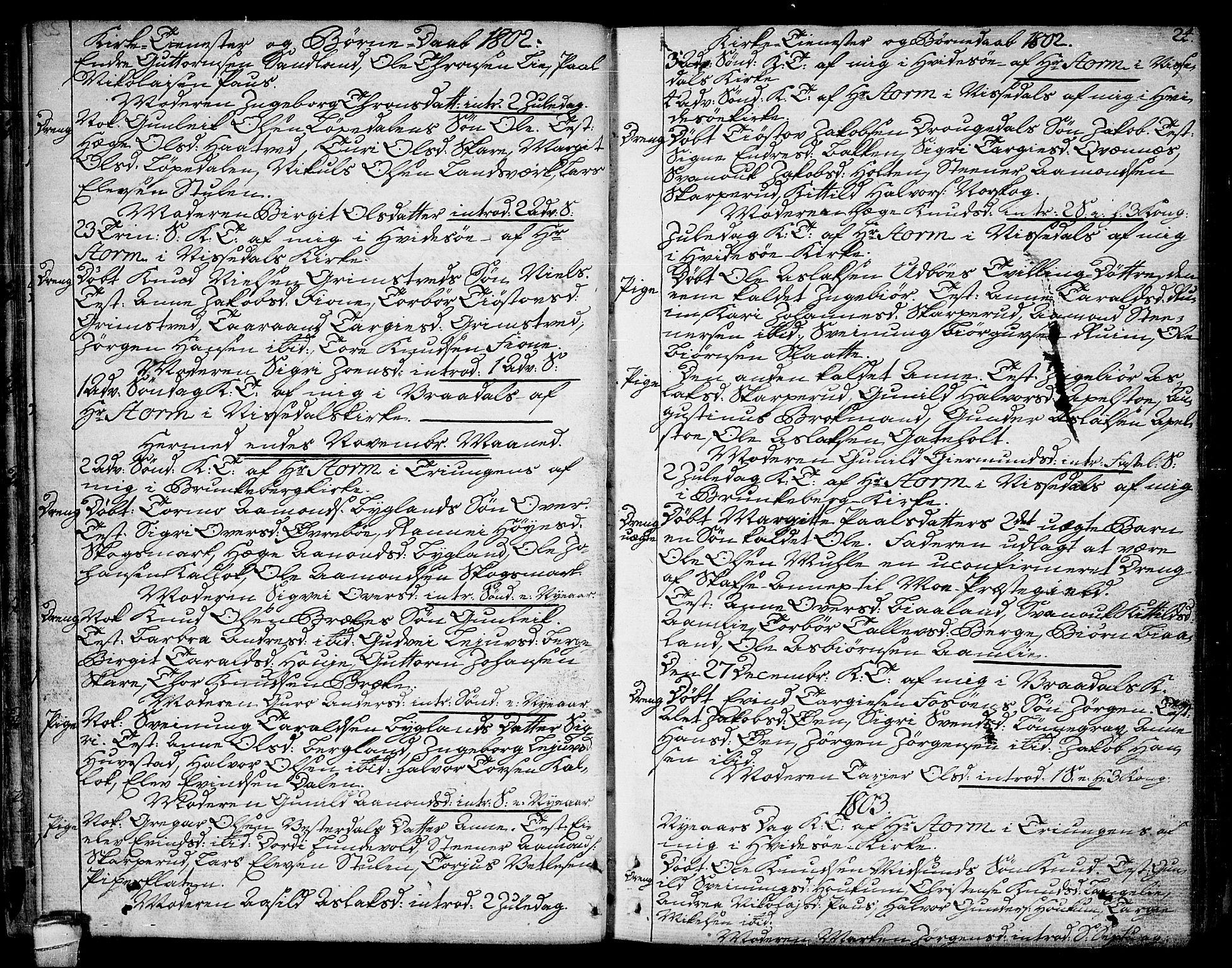 SAKO, Kviteseid kirkebøker, F/Fa/L0004: Ministerialbok nr. I 4, 1800-1814, s. 24