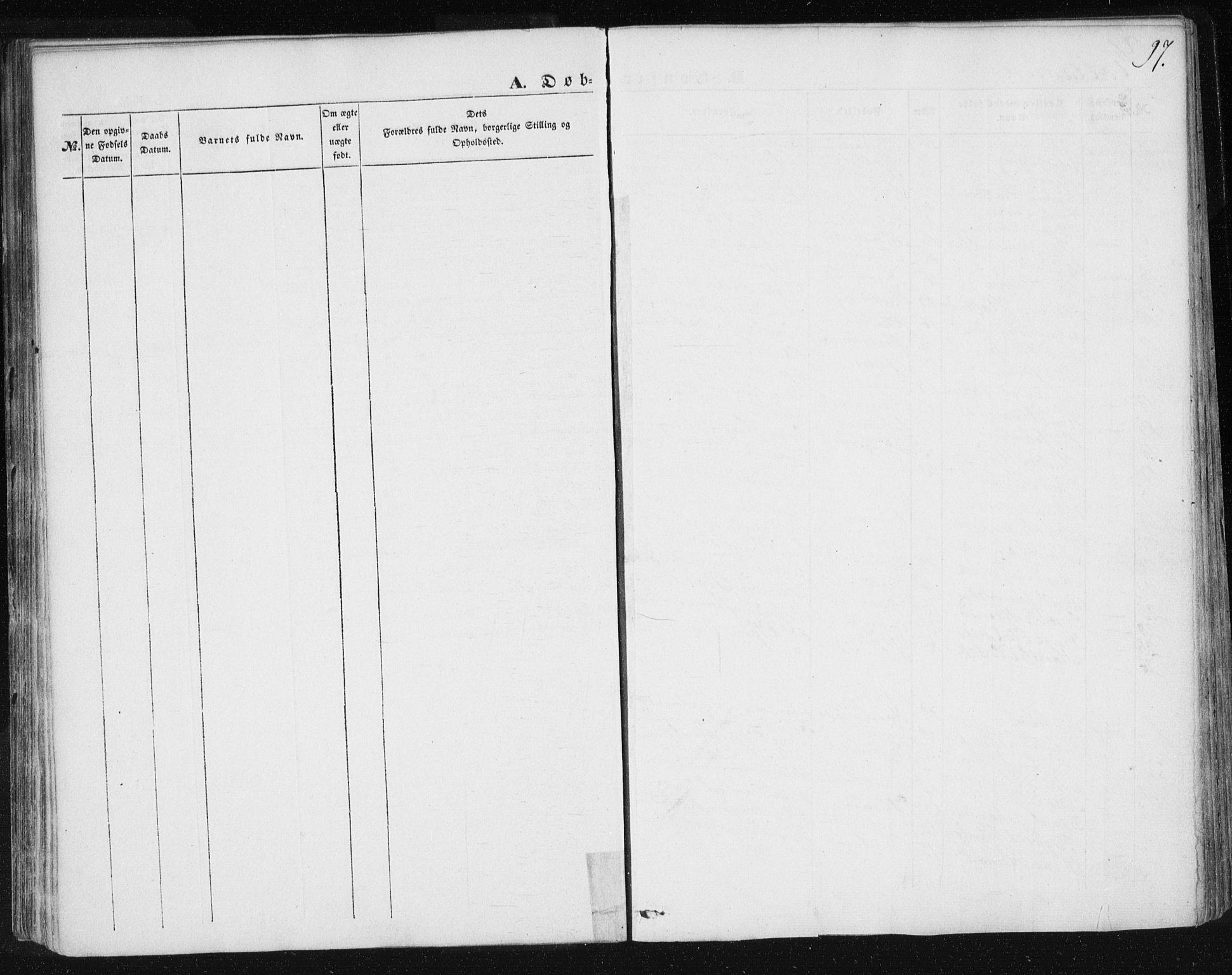 SAT, Ministerialprotokoller, klokkerbøker og fødselsregistre - Sør-Trøndelag, 685/L0965: Ministerialbok nr. 685A06 /3, 1846-1859, s. 97