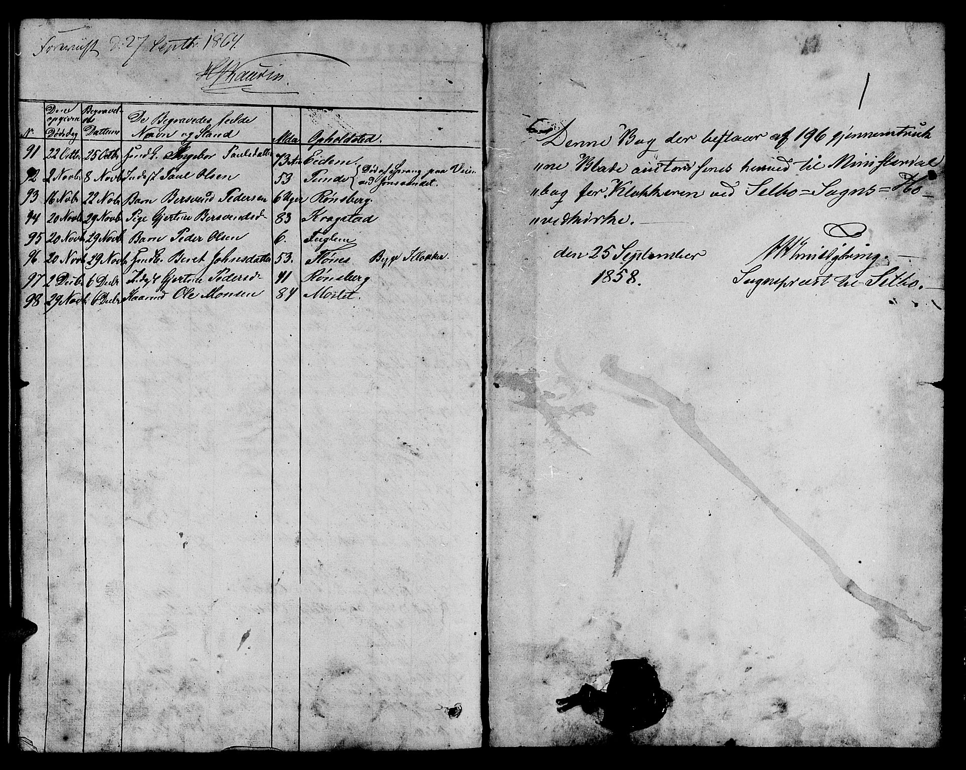 SAT, Ministerialprotokoller, klokkerbøker og fødselsregistre - Sør-Trøndelag, 695/L1155: Klokkerbok nr. 695C06, 1859-1868