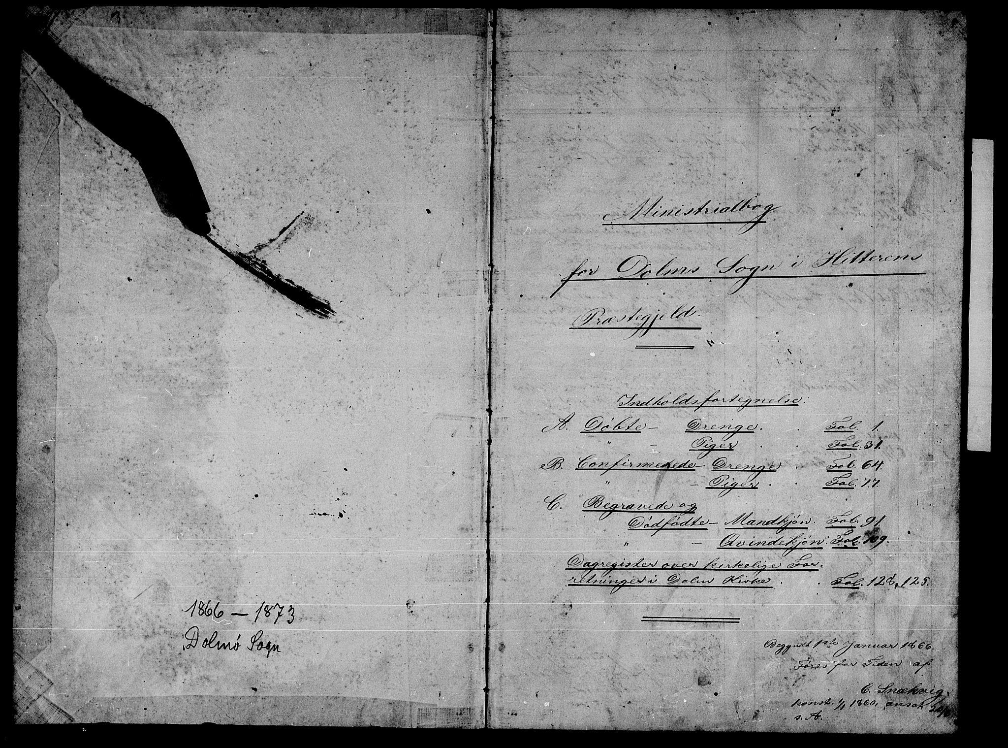 SAT, Ministerialprotokoller, klokkerbøker og fødselsregistre - Sør-Trøndelag, 634/L0539: Klokkerbok nr. 634C01, 1866-1873