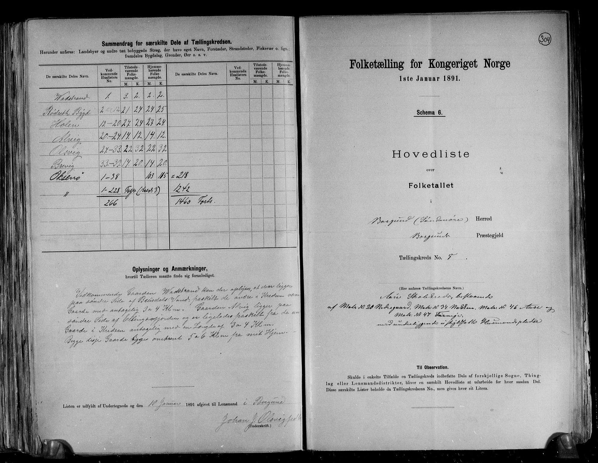 RA, Folketelling 1891 for 1531 Borgund herred, 1891, s. 15