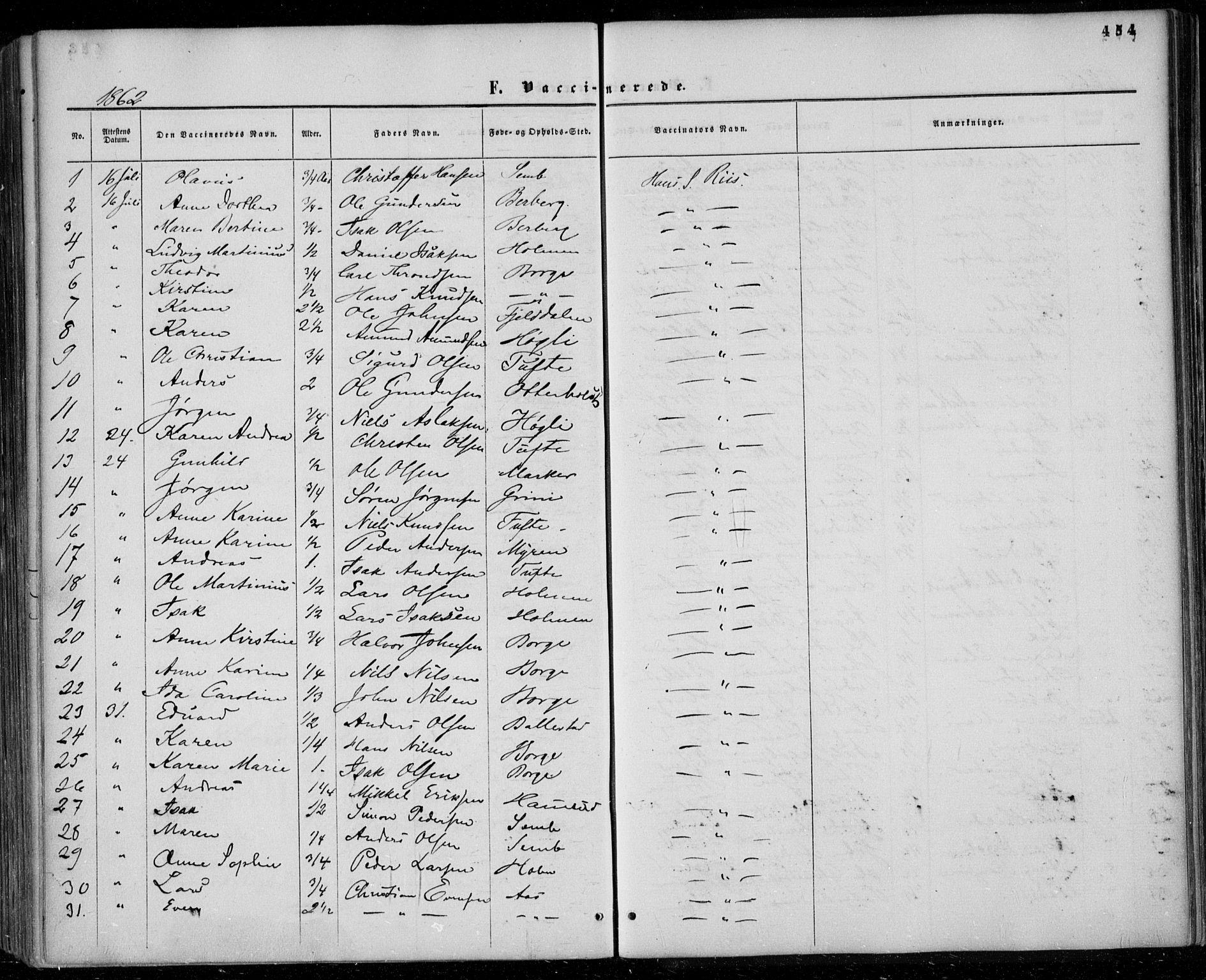 SAKO, Gjerpen kirkebøker, F/Fa/L0008b: Ministerialbok nr. 8B, 1857-1871, s. 454