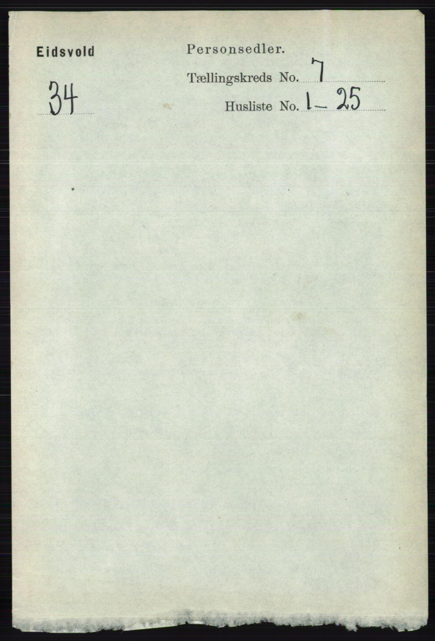 RA, Folketelling 1891 for 0237 Eidsvoll herred, 1891, s. 4597