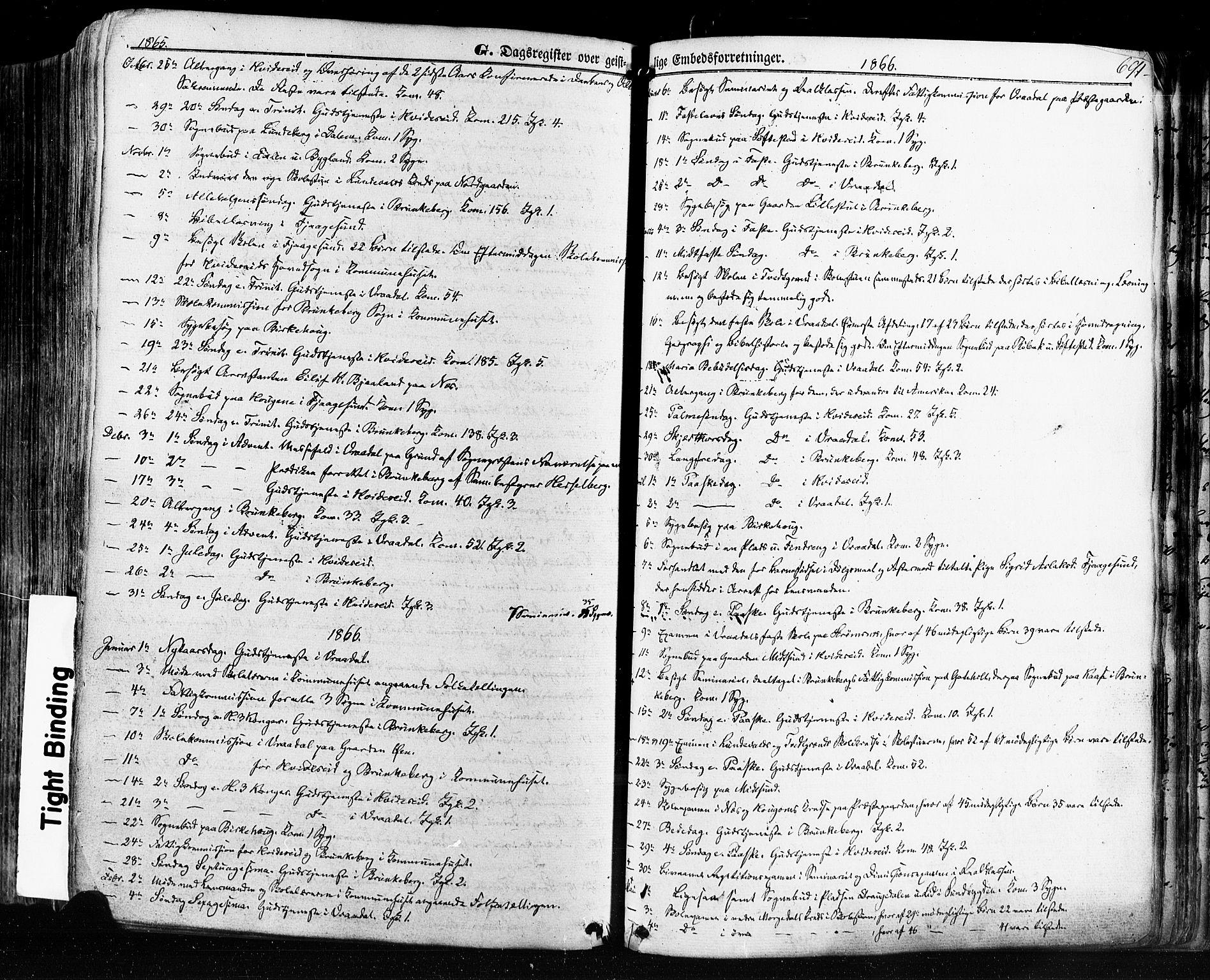SAKO, Kviteseid kirkebøker, F/Fa/L0007: Ministerialbok nr. I 7, 1859-1881, s. 691