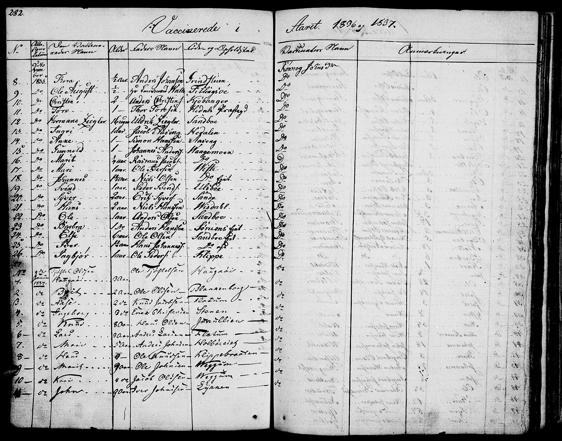 SAH, Vågå prestekontor, Ministerialbok nr. 4 /1, 1827-1842, s. 282