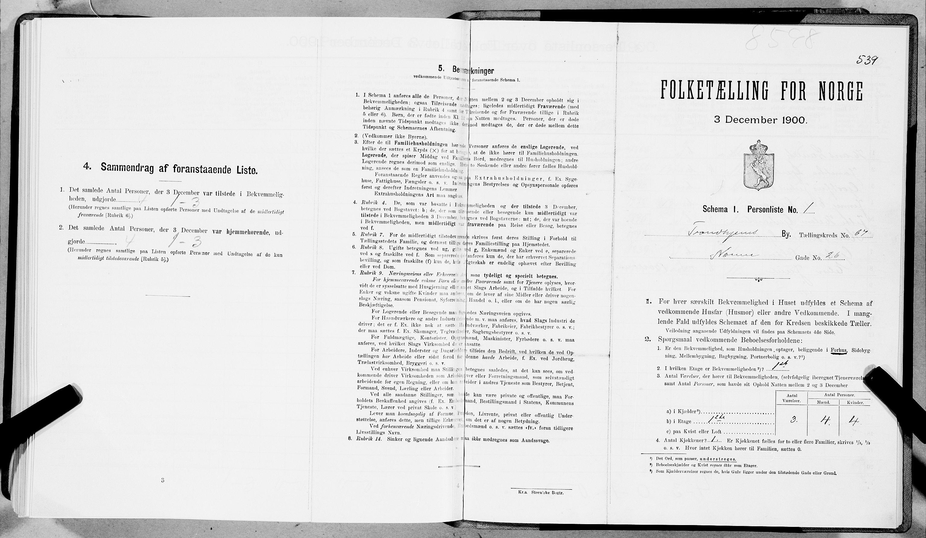 SAT, Folketelling 1900 for 1601 Trondheim kjøpstad, 1900, s. 12312