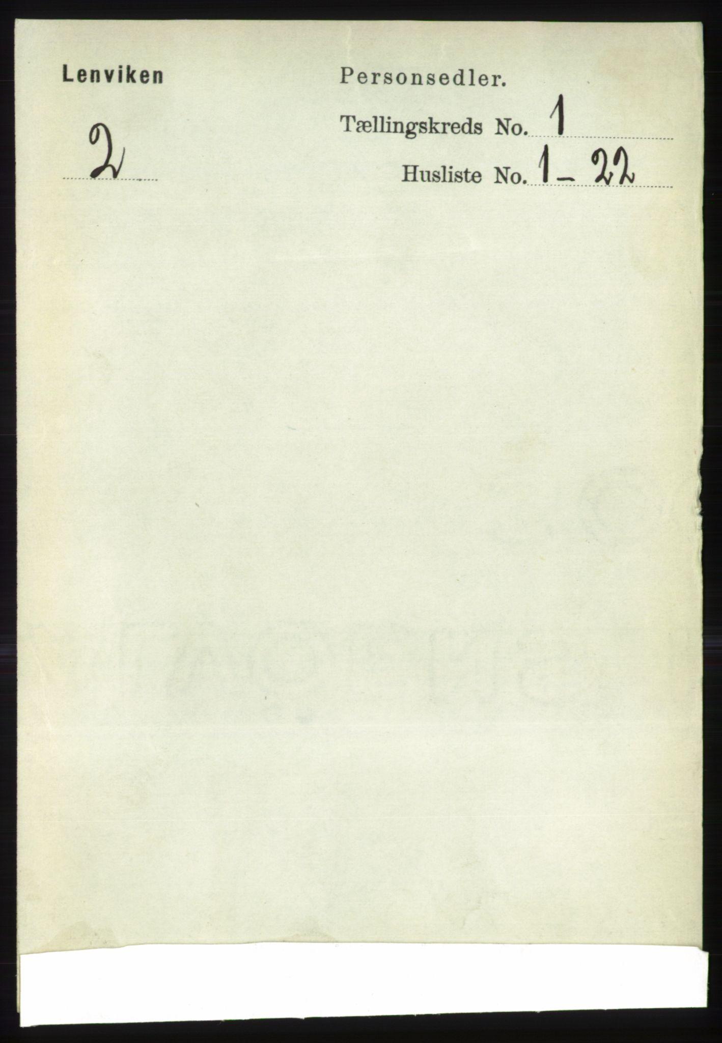 RA, Folketelling 1891 for 1931 Lenvik herred, 1891, s. 109