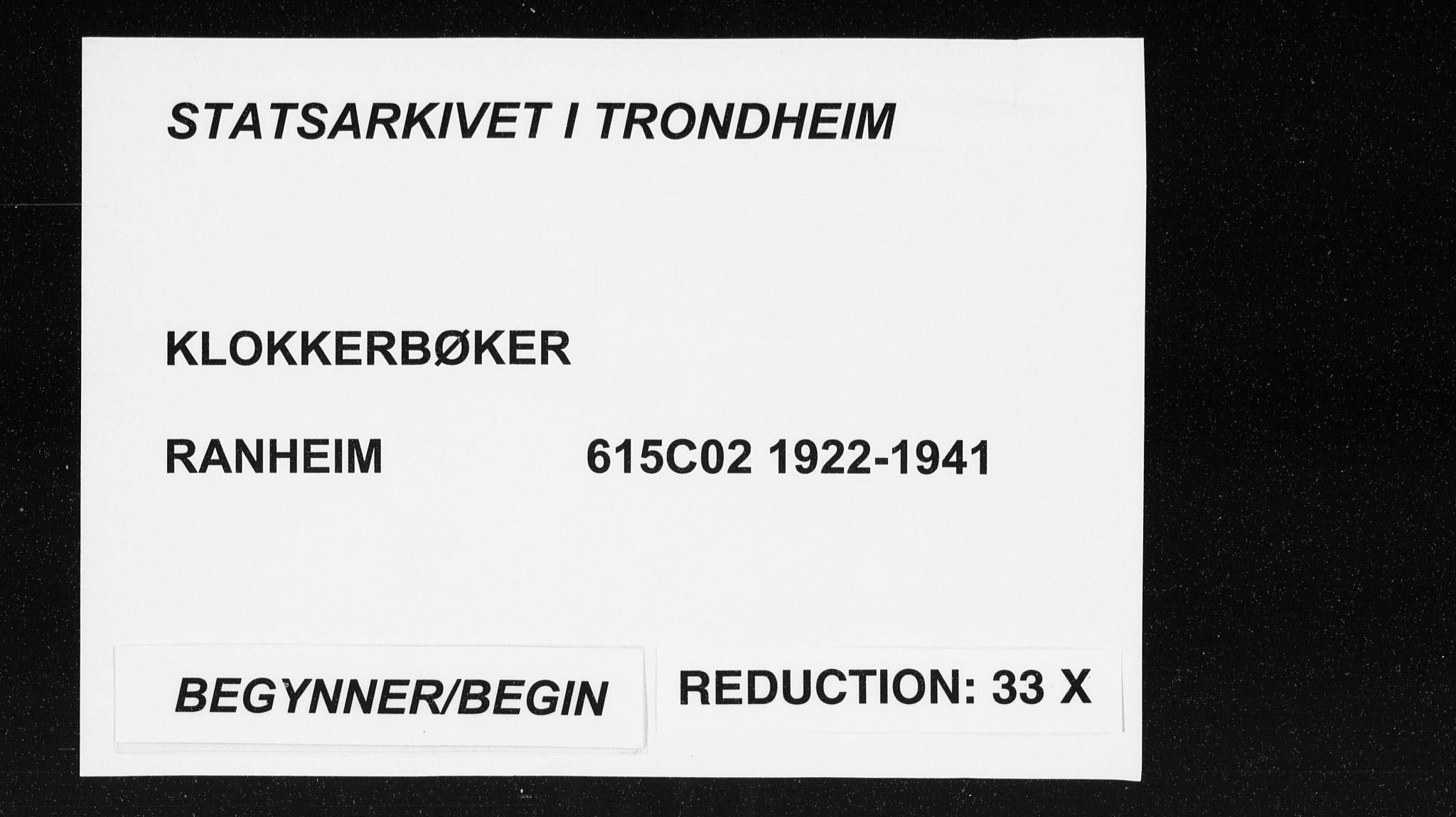 SAT, Ministerialprotokoller, klokkerbøker og fødselsregistre - Sør-Trøndelag, 615/L0401: Klokkerbok nr. 615C02, 1922-1941