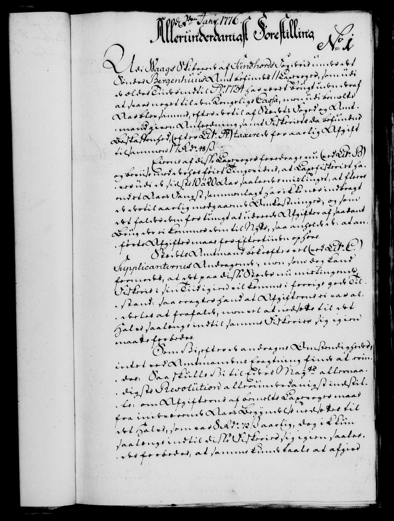 RA, Rentekammeret, Kammerkanselliet, G/Gf/Gfa/L0058: Norsk relasjons- og resolusjonsprotokoll (merket RK 52.58), 1776, s. 28