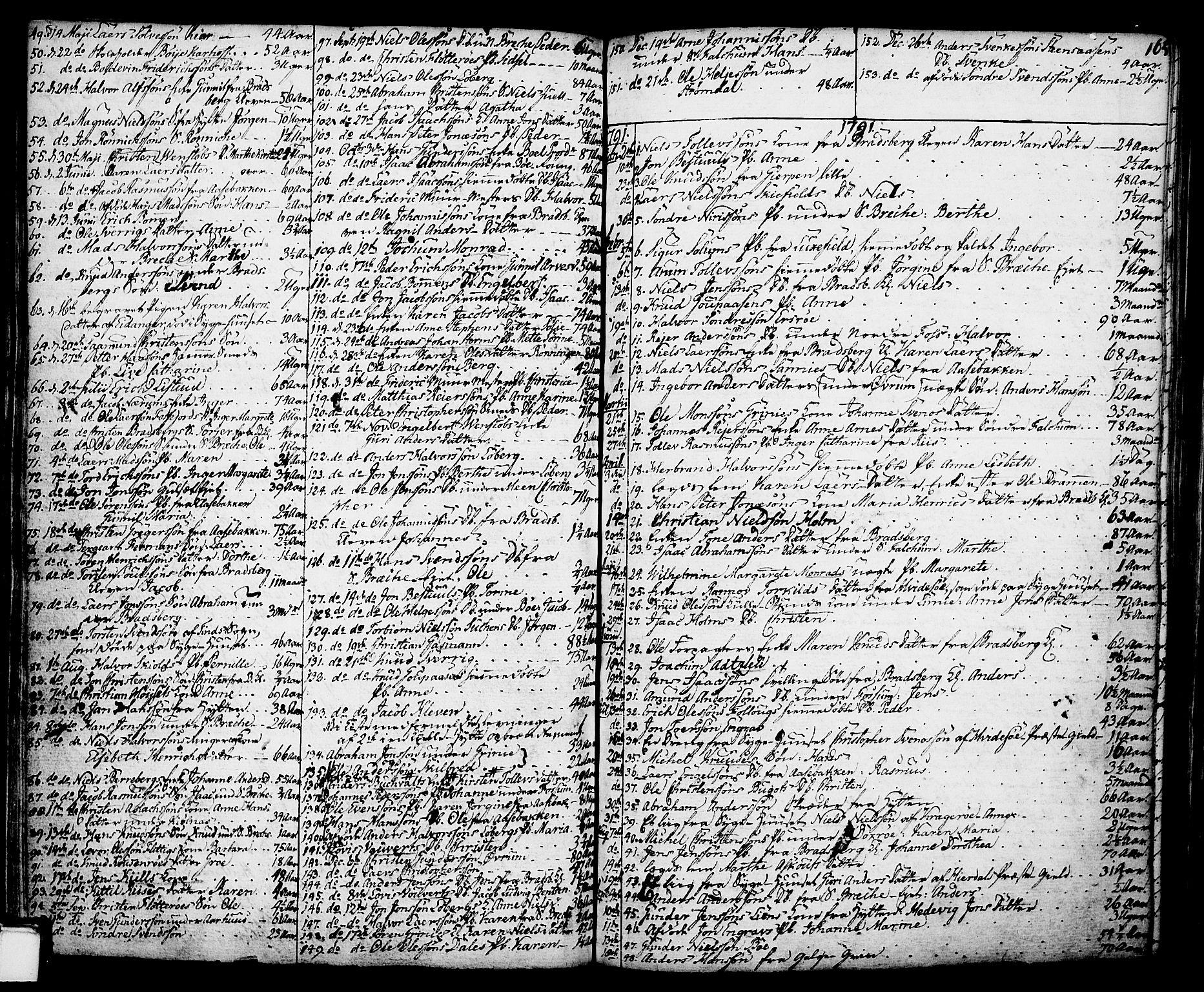 SAKO, Gjerpen kirkebøker, F/Fa/L0002: Ministerialbok nr. 2, 1747-1795, s. 165