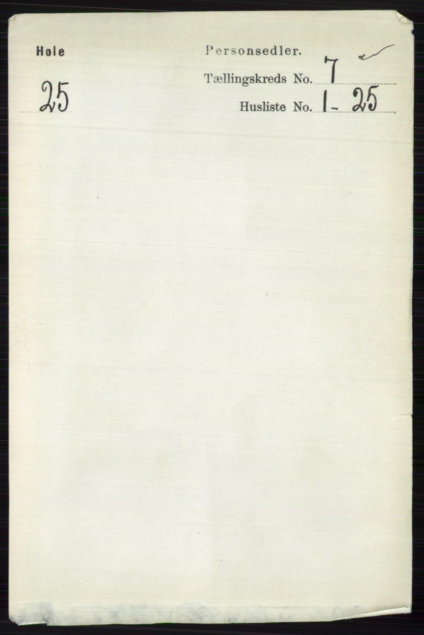 RA, Folketelling 1891 for 0612 Hole herred, 1891, s. 3983