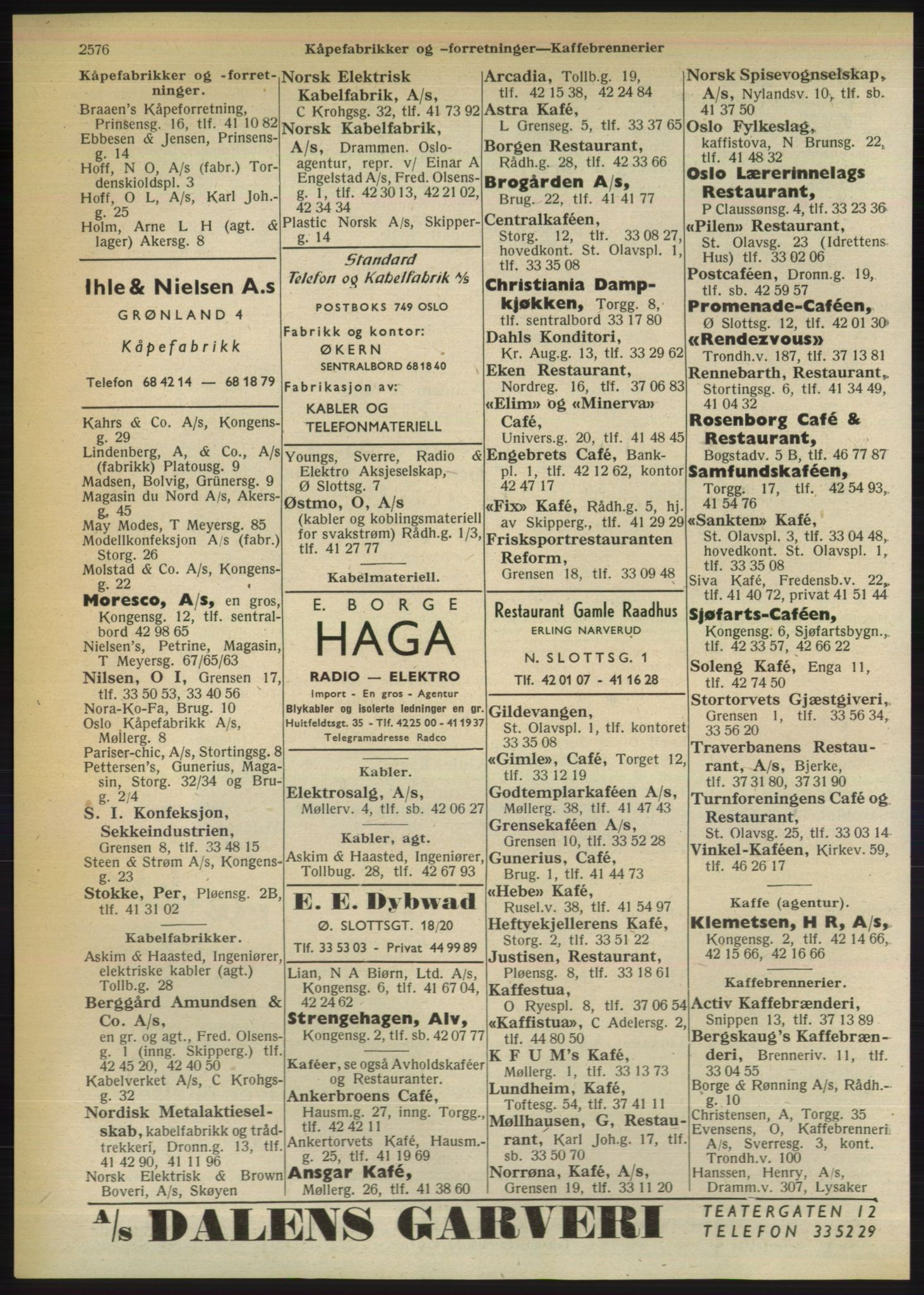 RA, Oslo adressebok (publikasjon)*, 1950, s. 2576