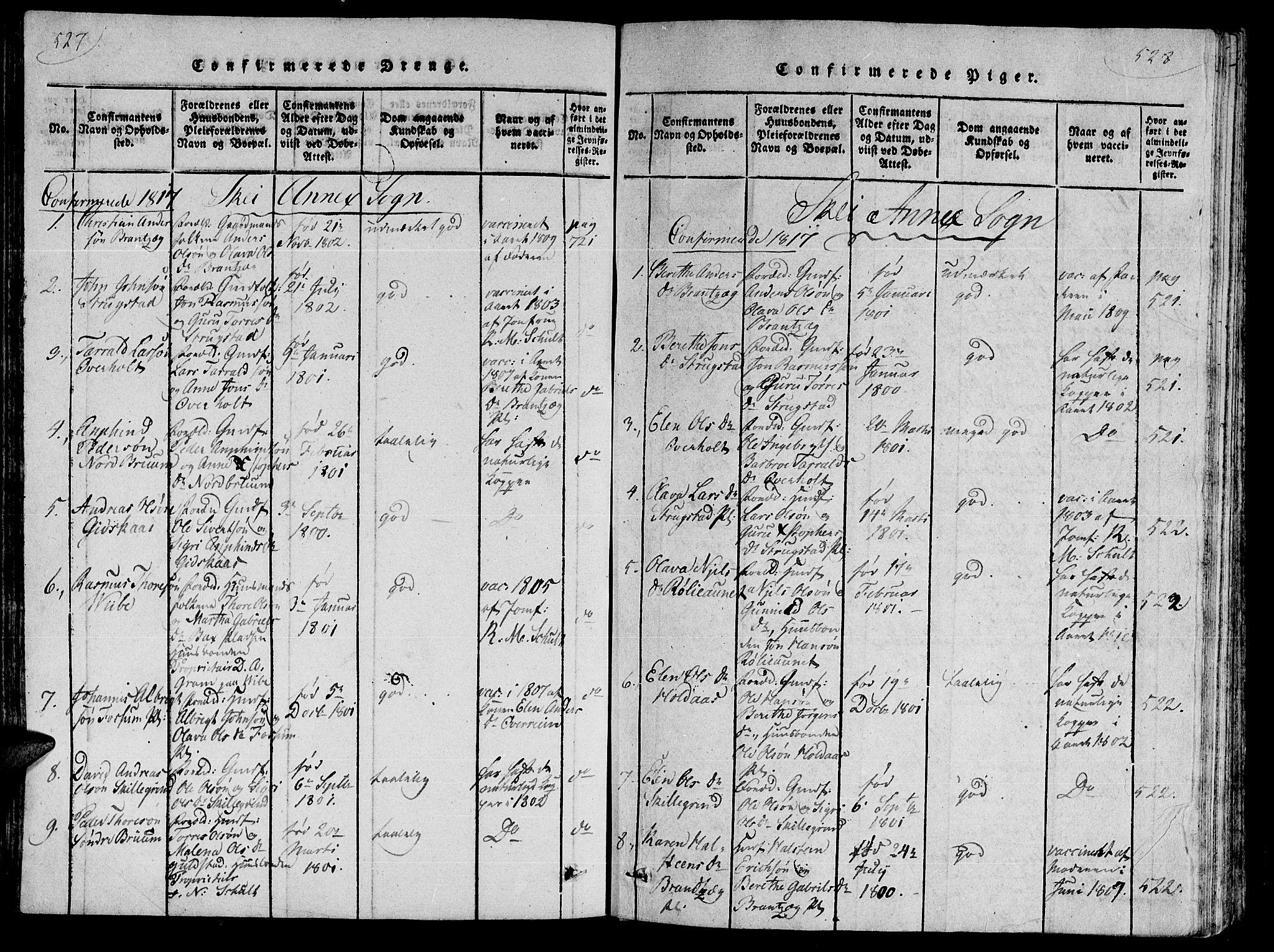 SAT, Ministerialprotokoller, klokkerbøker og fødselsregistre - Nord-Trøndelag, 735/L0333: Ministerialbok nr. 735A04 /2, 1816-1825, s. 527-528
