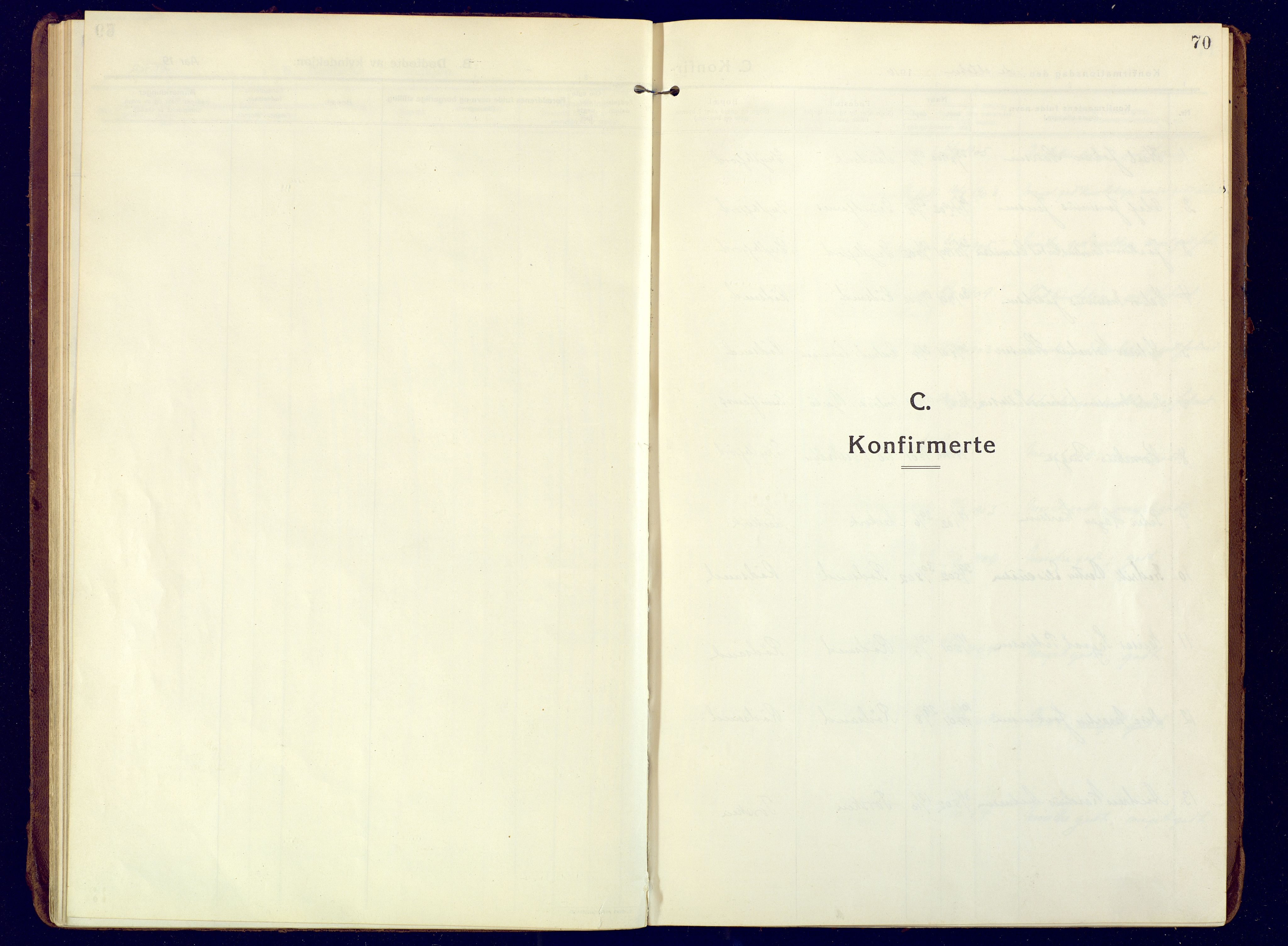 SATØ, Mefjord/Berg sokneprestkontor, G/Ga/Gaa: Ministerialbok nr. 10, 1916-1928, s. 70