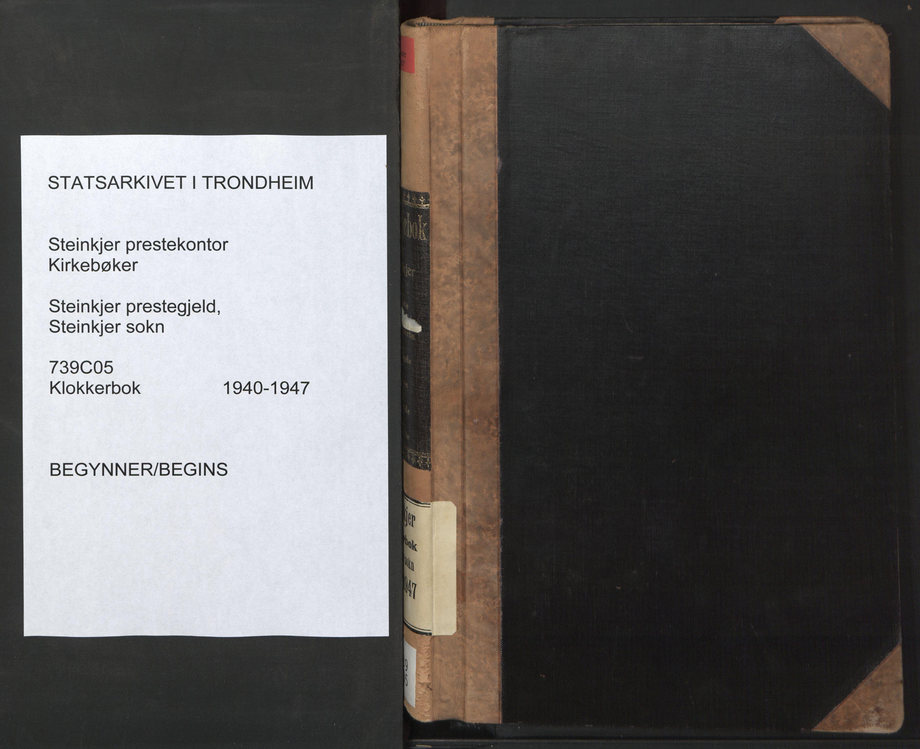 SAT, Ministerialprotokoller, klokkerbøker og fødselsregistre - Nord-Trøndelag, 739/L0377: Klokkerbok nr. 739C05, 1940-1947