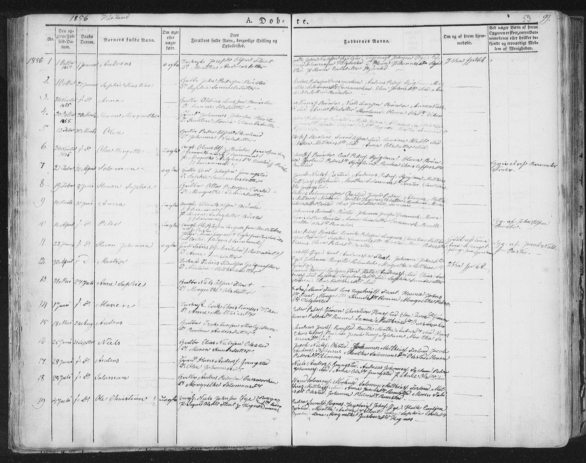 SAT, Ministerialprotokoller, klokkerbøker og fødselsregistre - Nord-Trøndelag, 758/L0513: Ministerialbok nr. 758A02 /2, 1839-1868, s. 53