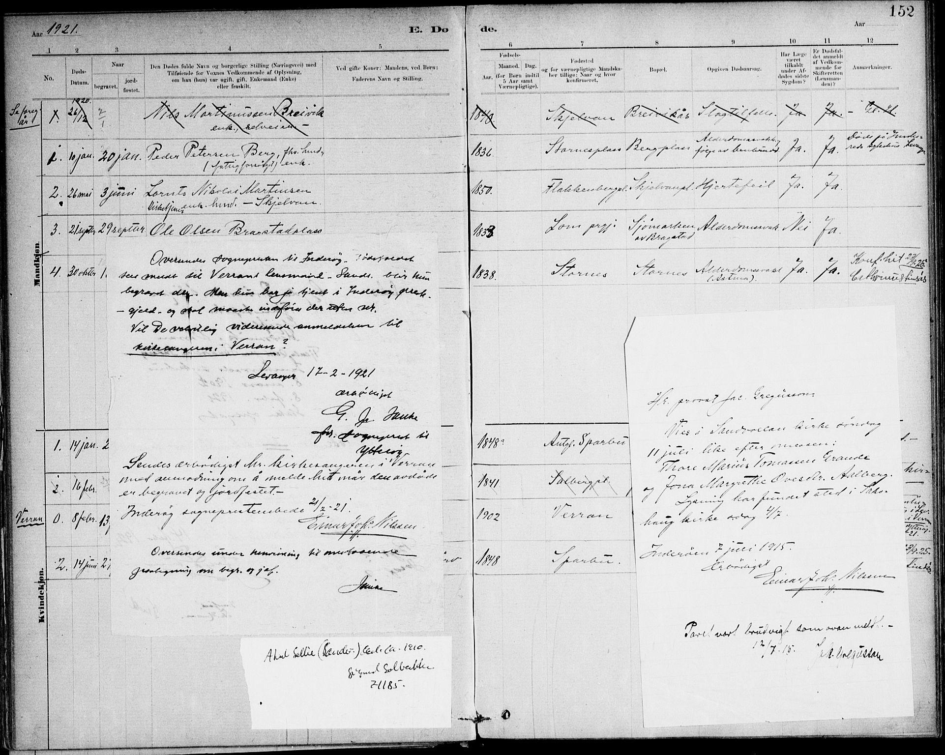 SAT, Ministerialprotokoller, klokkerbøker og fødselsregistre - Nord-Trøndelag, 732/L0316: Ministerialbok nr. 732A01, 1879-1921, s. 152