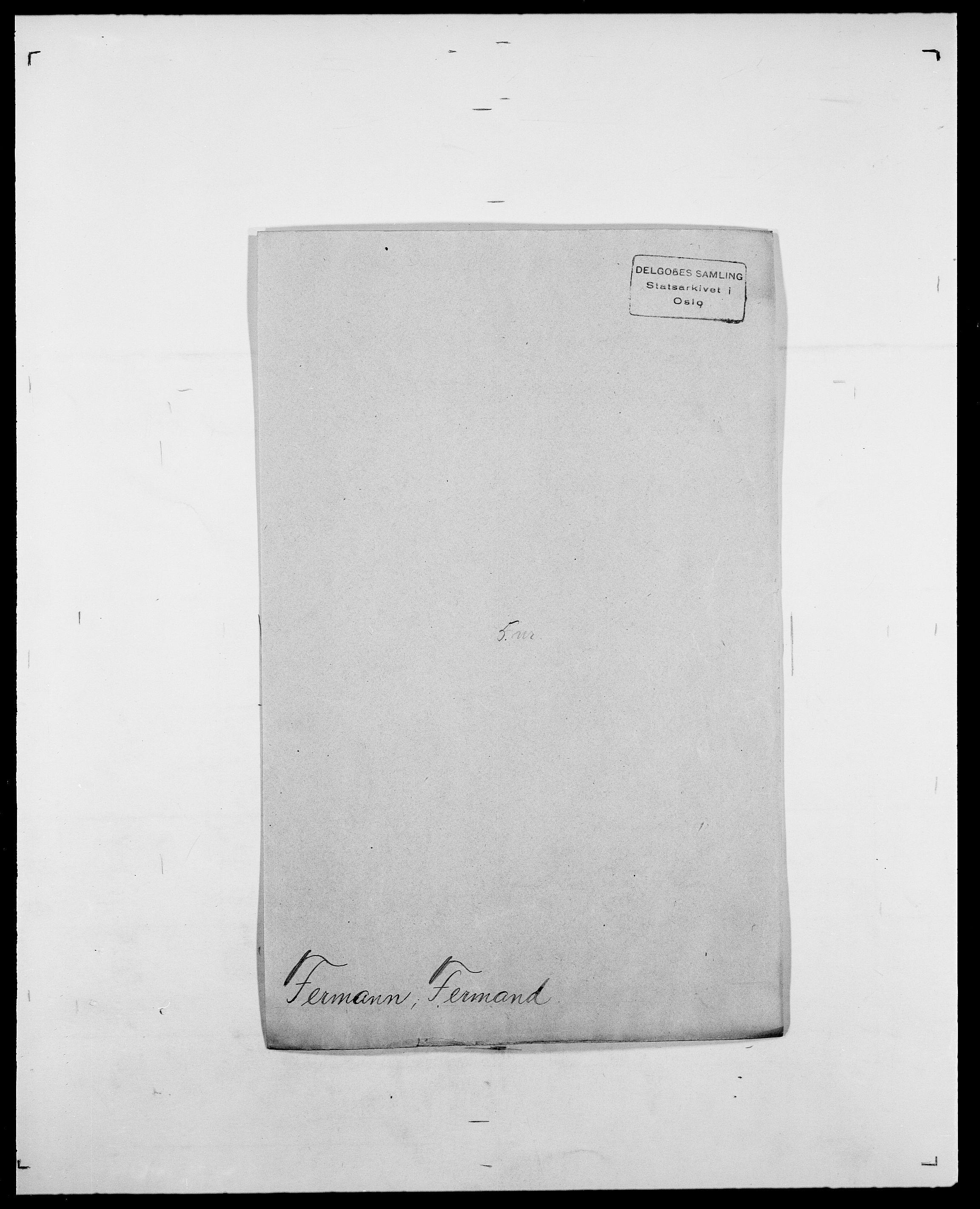 SAO, Delgobe, Charles Antoine - samling, D/Da/L0011: Fahlander - Flood, Flod, s. 372