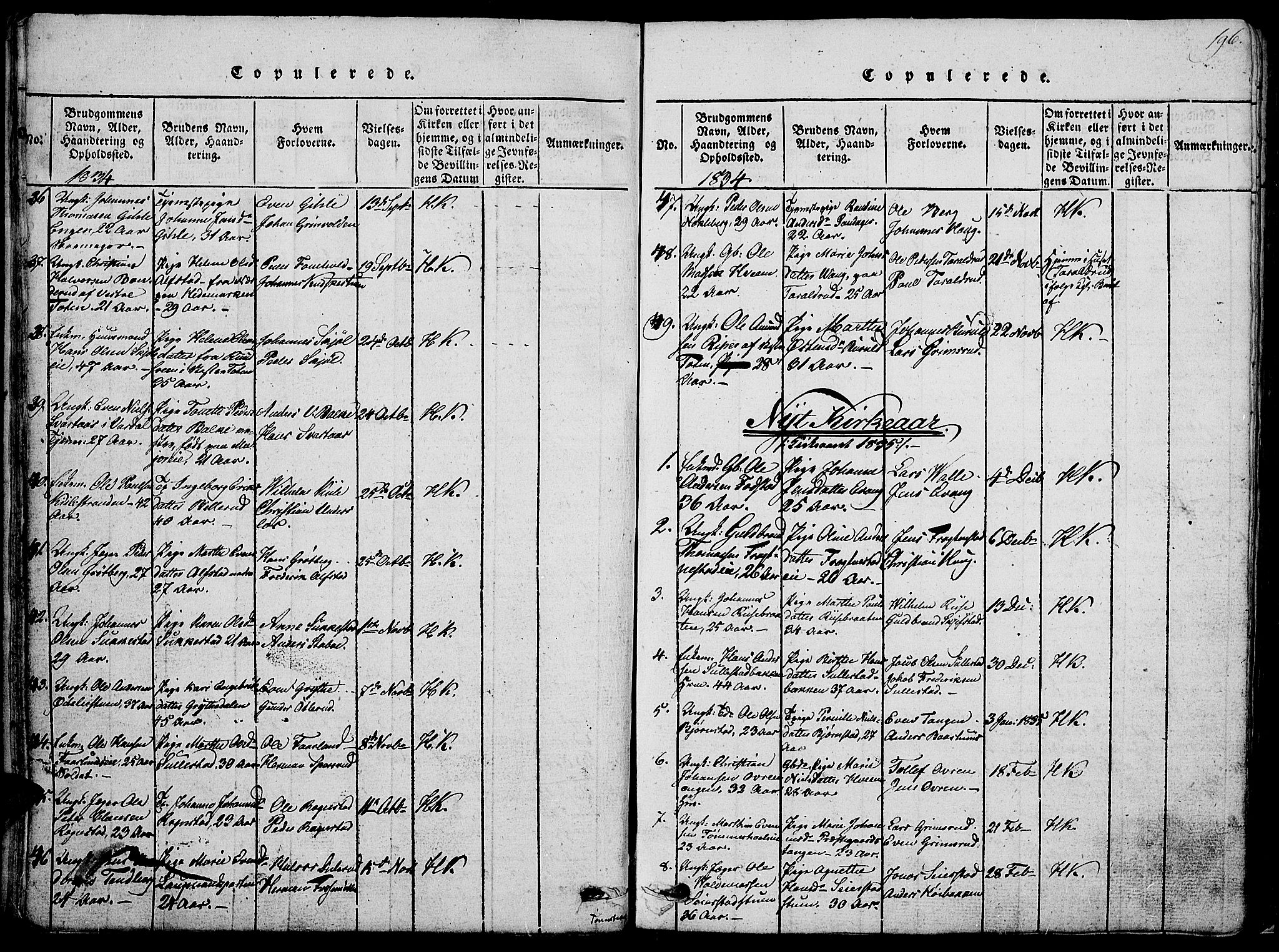 SAH, Østre Toten prestekontor, Klokkerbok nr. 1, 1827-1839, s. 196