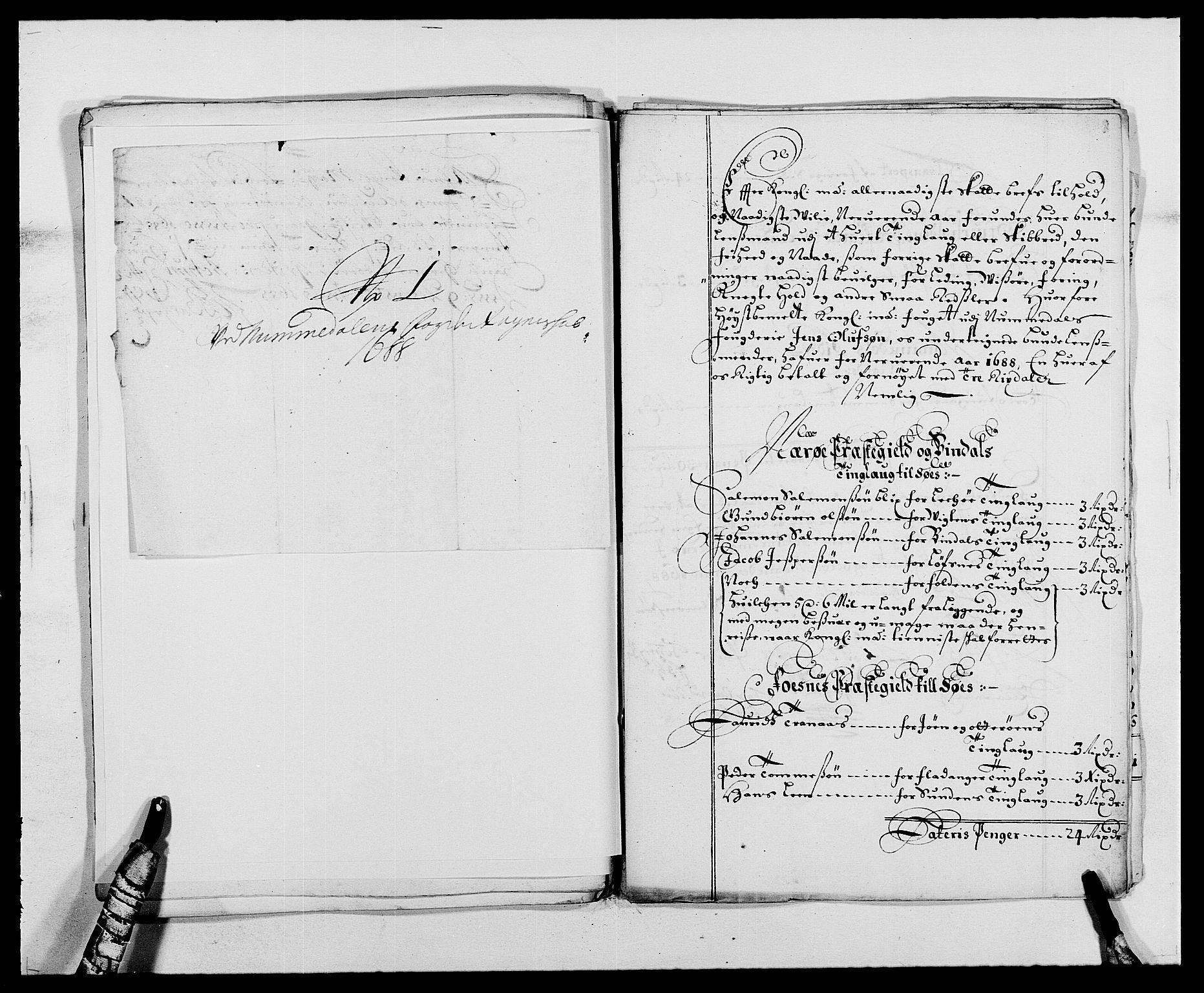 RA, Rentekammeret inntil 1814, Reviderte regnskaper, Fogderegnskap, R64/L4422: Fogderegnskap Namdal, 1687-1689, s. 181