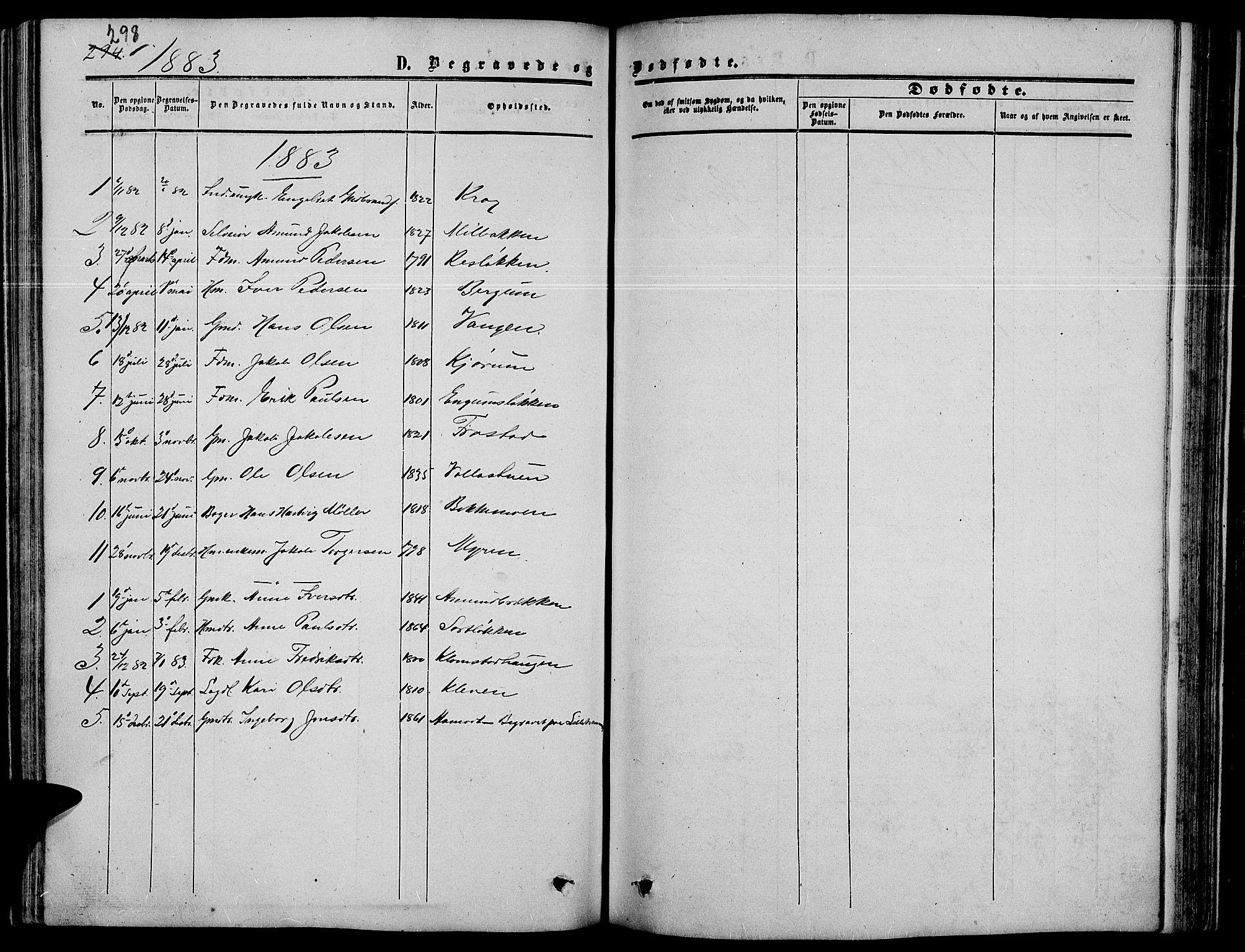 SAH, Nord-Fron prestekontor, Klokkerbok nr. 3, 1851-1886, s. 298