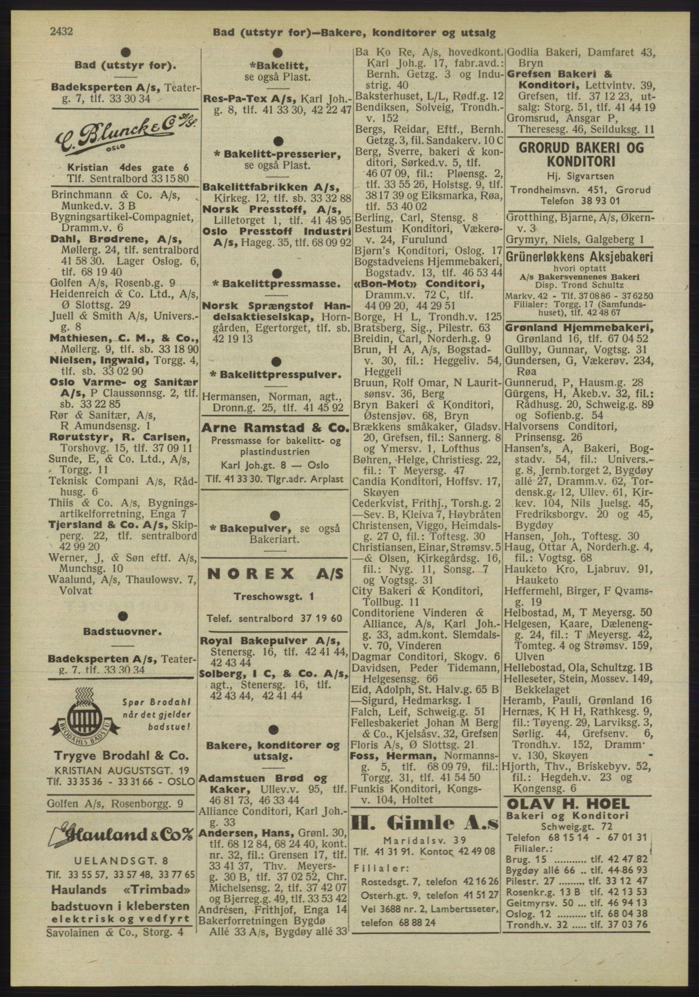 PUBL, Kristiania/Oslo adressebok, 1955, s. 2432