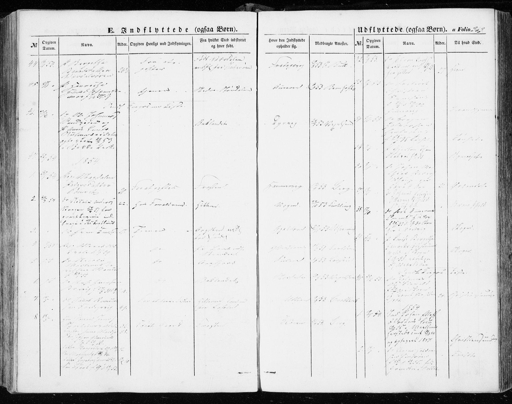 SAT, Ministerialprotokoller, klokkerbøker og fødselsregistre - Sør-Trøndelag, 634/L0530: Ministerialbok nr. 634A06, 1852-1860, s. 363