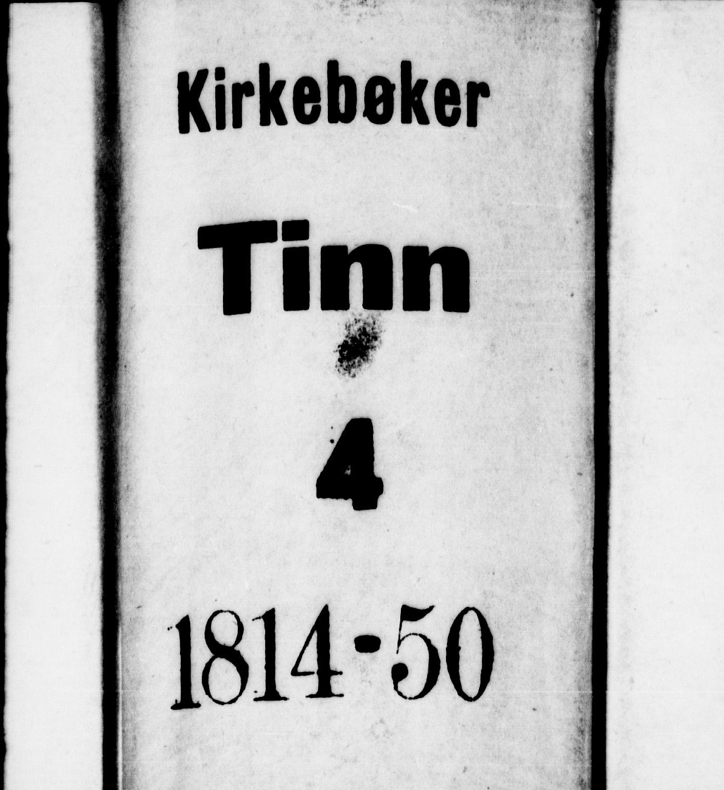 SAKO, Tinn kirkebøker, G/Ga/L0001: Klokkerbok nr. I 1, 1815-1850