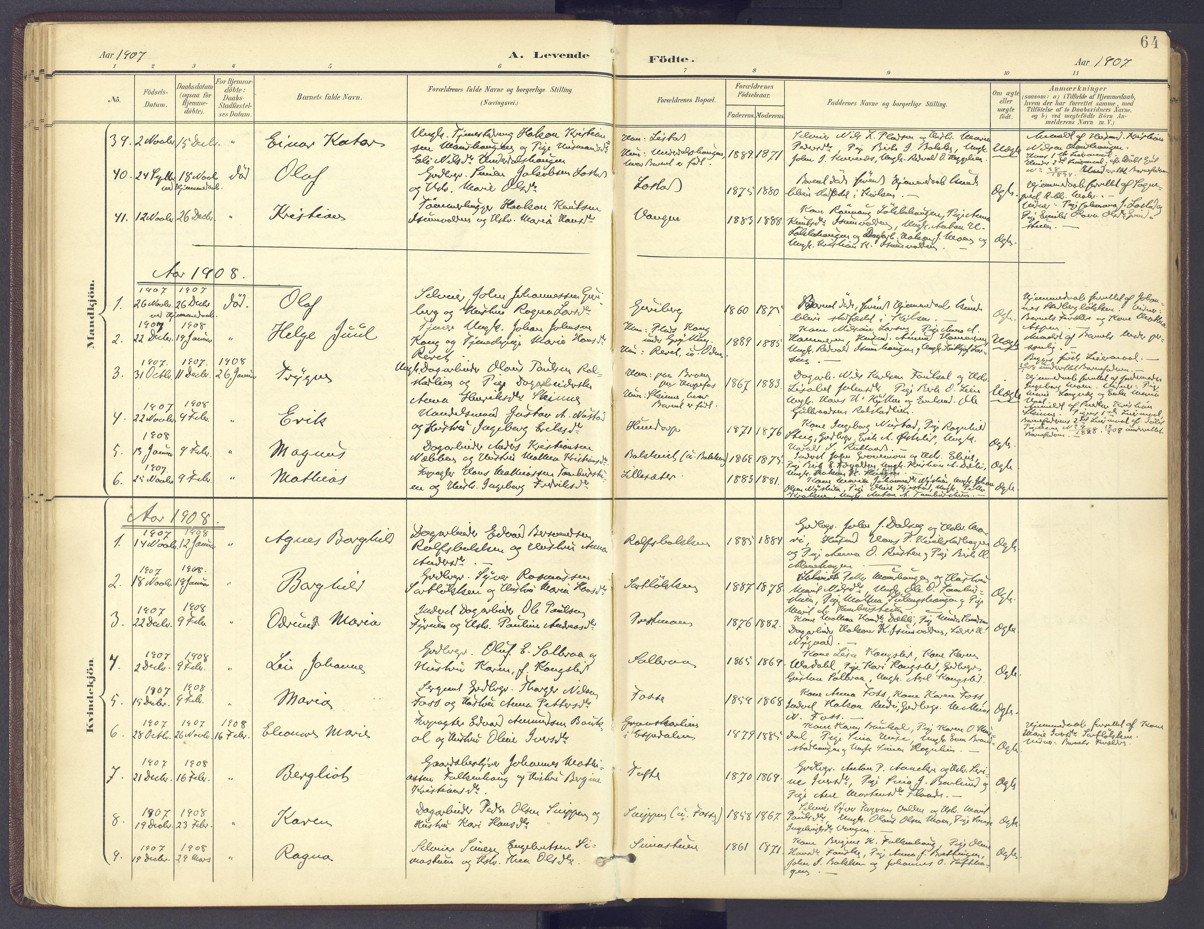 SAH, Sør-Fron prestekontor, H/Ha/Haa/L0004: Ministerialbok nr. 4, 1898-1919, s. 64