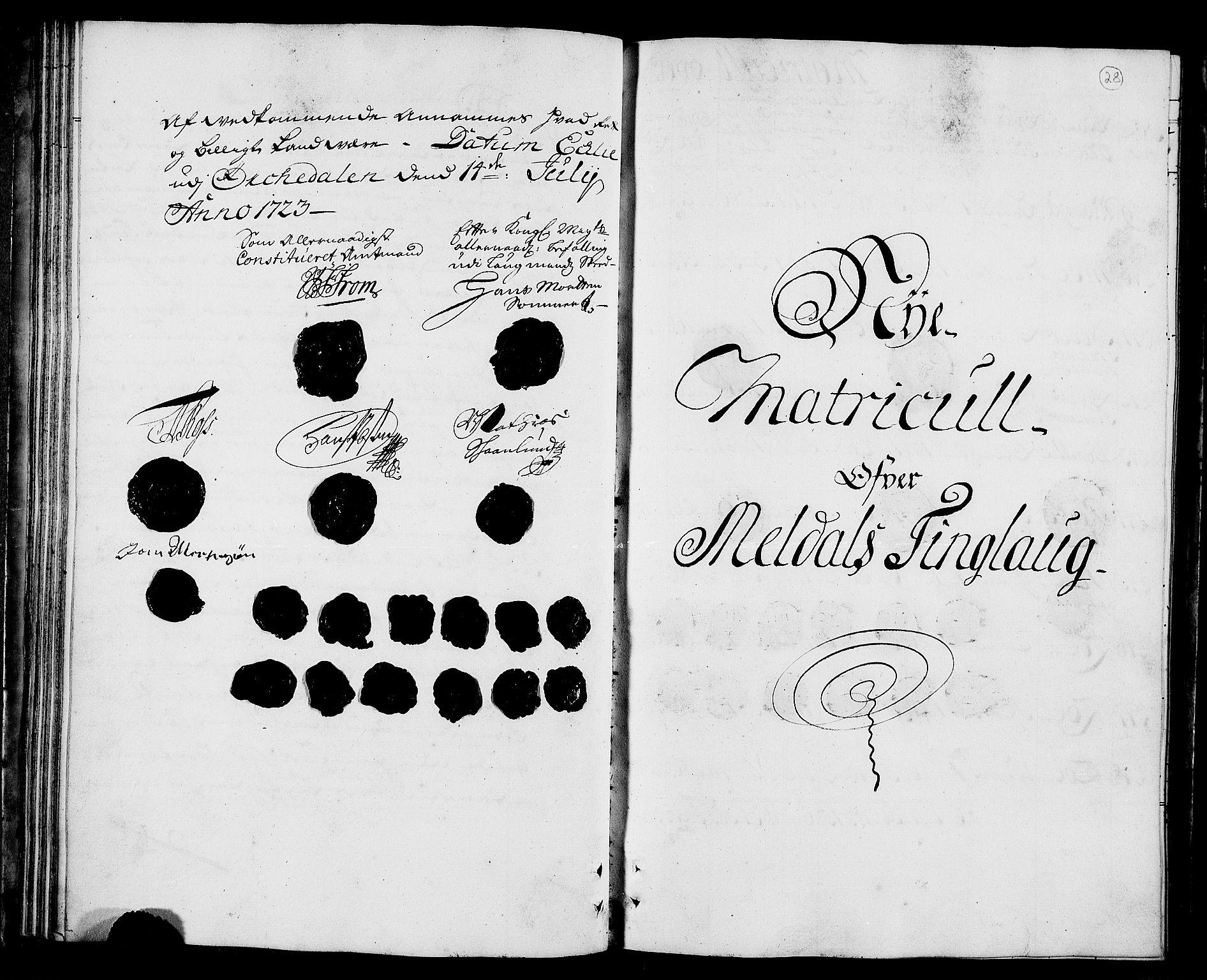 RA, Rentekammeret inntil 1814, Realistisk ordnet avdeling, N/Nb/Nbf/L0157: Orkdal matrikkelprotokoll, 1723, s. 27b-28a