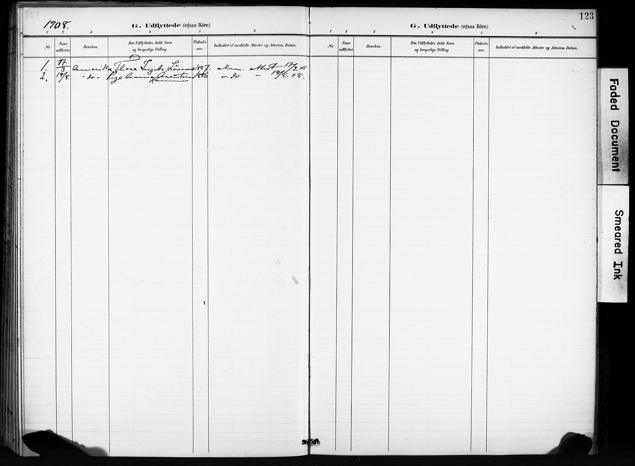 SAT, Ministerialprotokoller, klokkerbøker og fødselsregistre - Sør-Trøndelag, 666/L0787: Ministerialbok nr. 666A05, 1895-1908, s. 123
