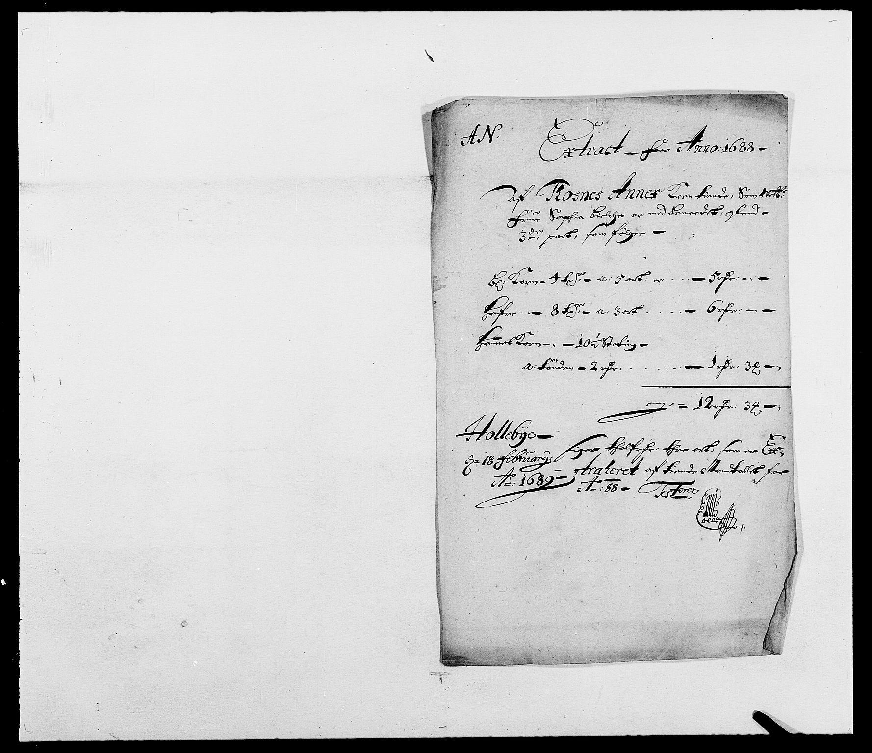 RA, Rentekammeret inntil 1814, Reviderte regnskaper, Fogderegnskap, R03/L0117: Fogderegnskap Onsøy, Tune, Veme og Åbygge fogderi, 1684-1689, s. 278