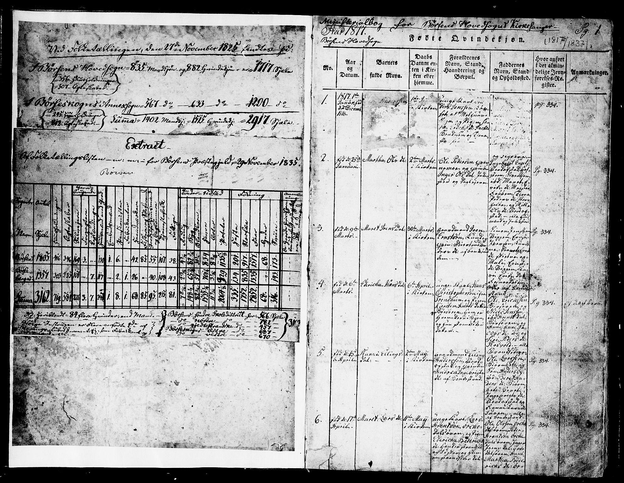 SAT, Ministerialprotokoller, klokkerbøker og fødselsregistre - Sør-Trøndelag, 665/L0776: Klokkerbok nr. 665C01, 1817-1837, s. 1