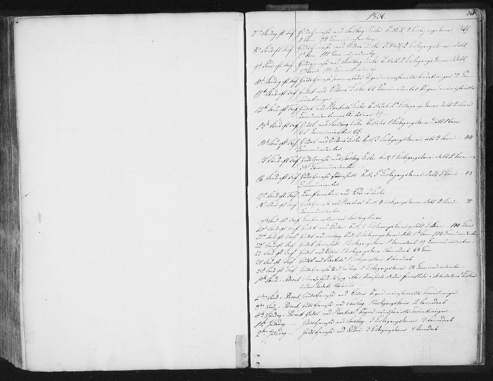 SAT, Ministerialprotokoller, klokkerbøker og fødselsregistre - Nord-Trøndelag, 741/L0392: Ministerialbok nr. 741A06, 1836-1848, s. 360