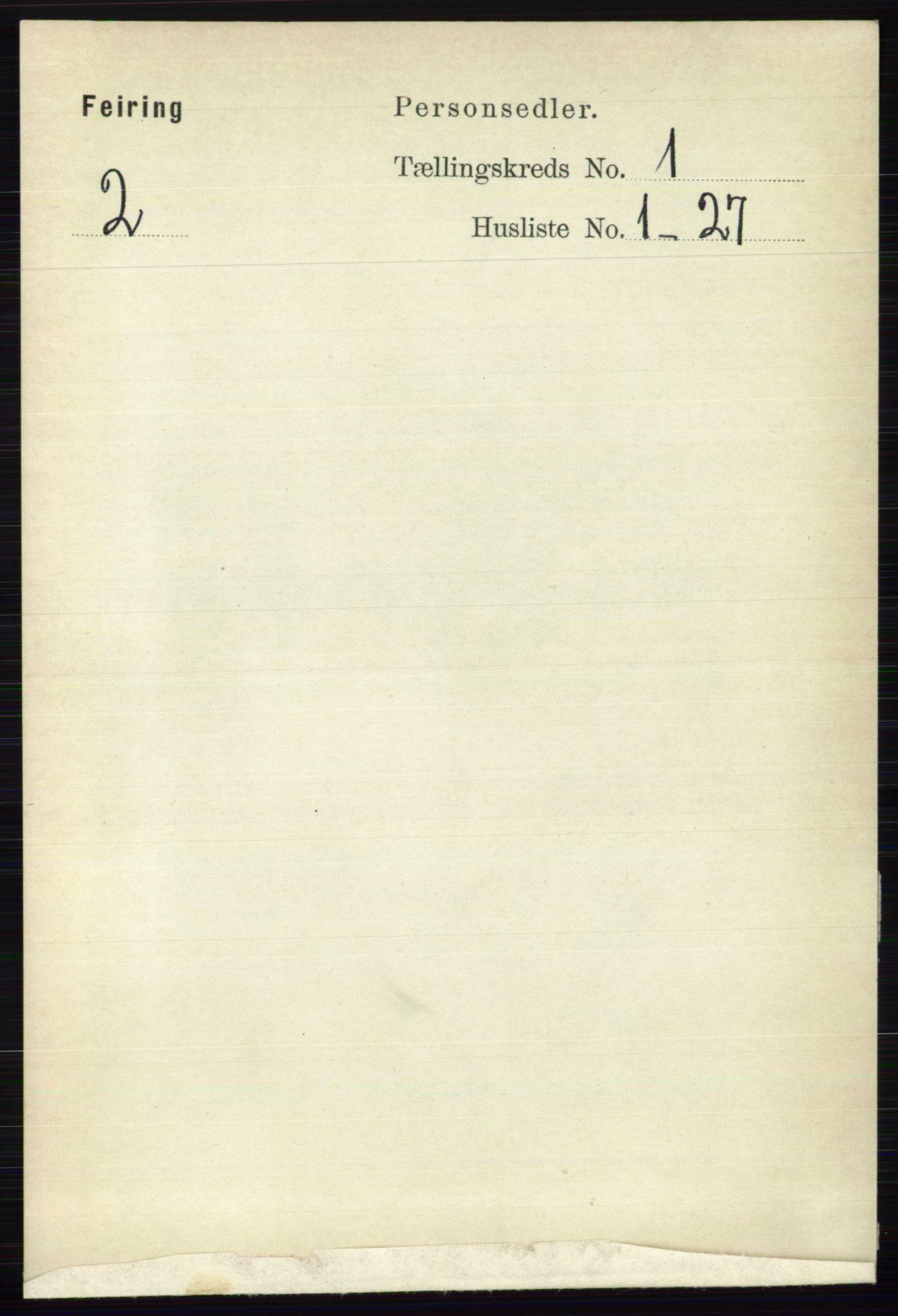 RA, Folketelling 1891 for 0240 Feiring herred, 1891, s. 111