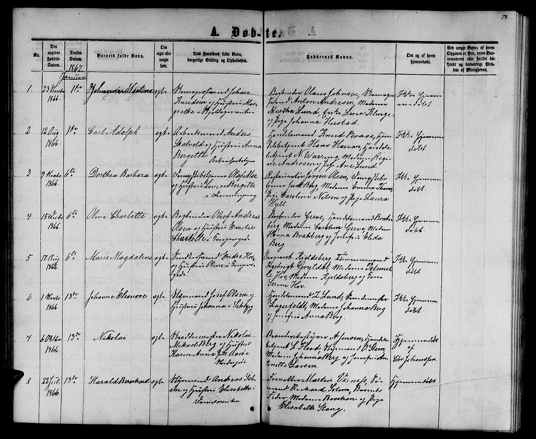 SAT, Ministerialprotokoller, klokkerbøker og fødselsregistre - Sør-Trøndelag, 601/L0087: Klokkerbok nr. 601C05, 1864-1881, s. 78