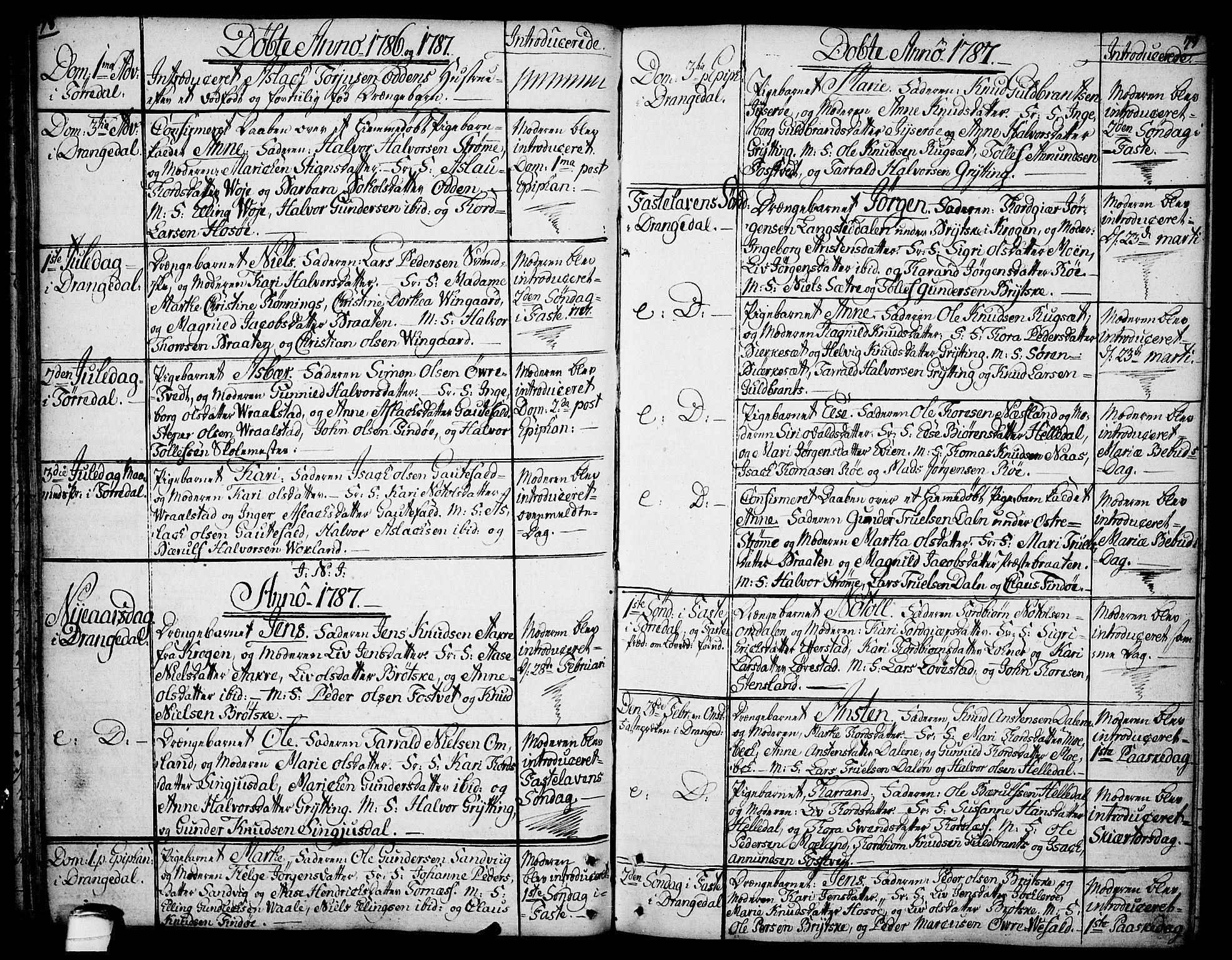 SAKO, Drangedal kirkebøker, F/Fa/L0003: Ministerialbok nr. 3, 1768-1814, s. 78-79
