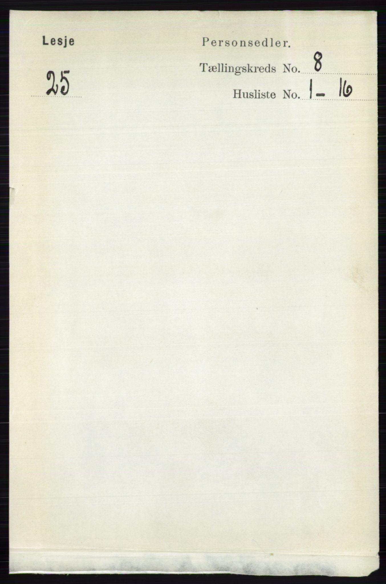 RA, Folketelling 1891 for 0512 Lesja herred, 1891, s. 2989